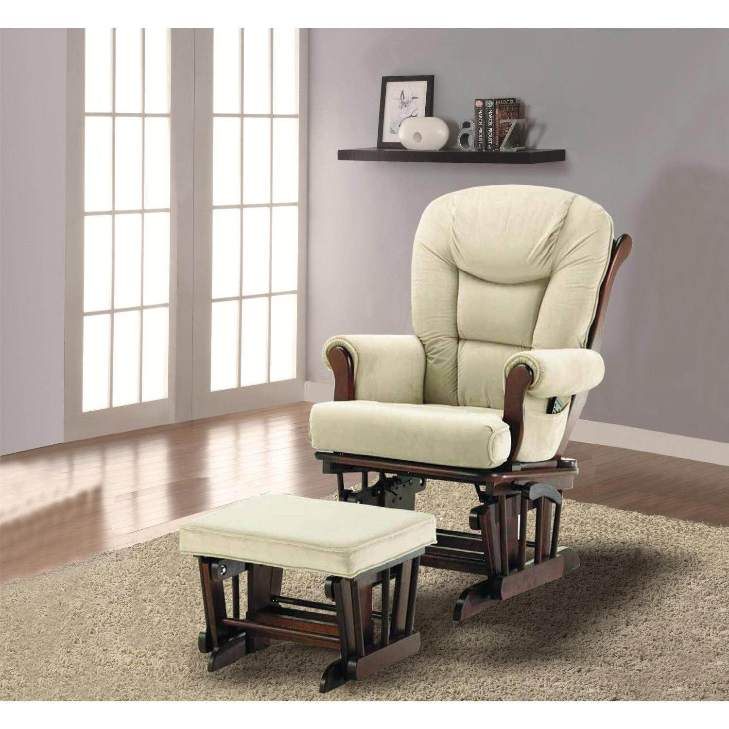 Naomi Home Deluxe Multiposition Sleigh Glider And Ottoman