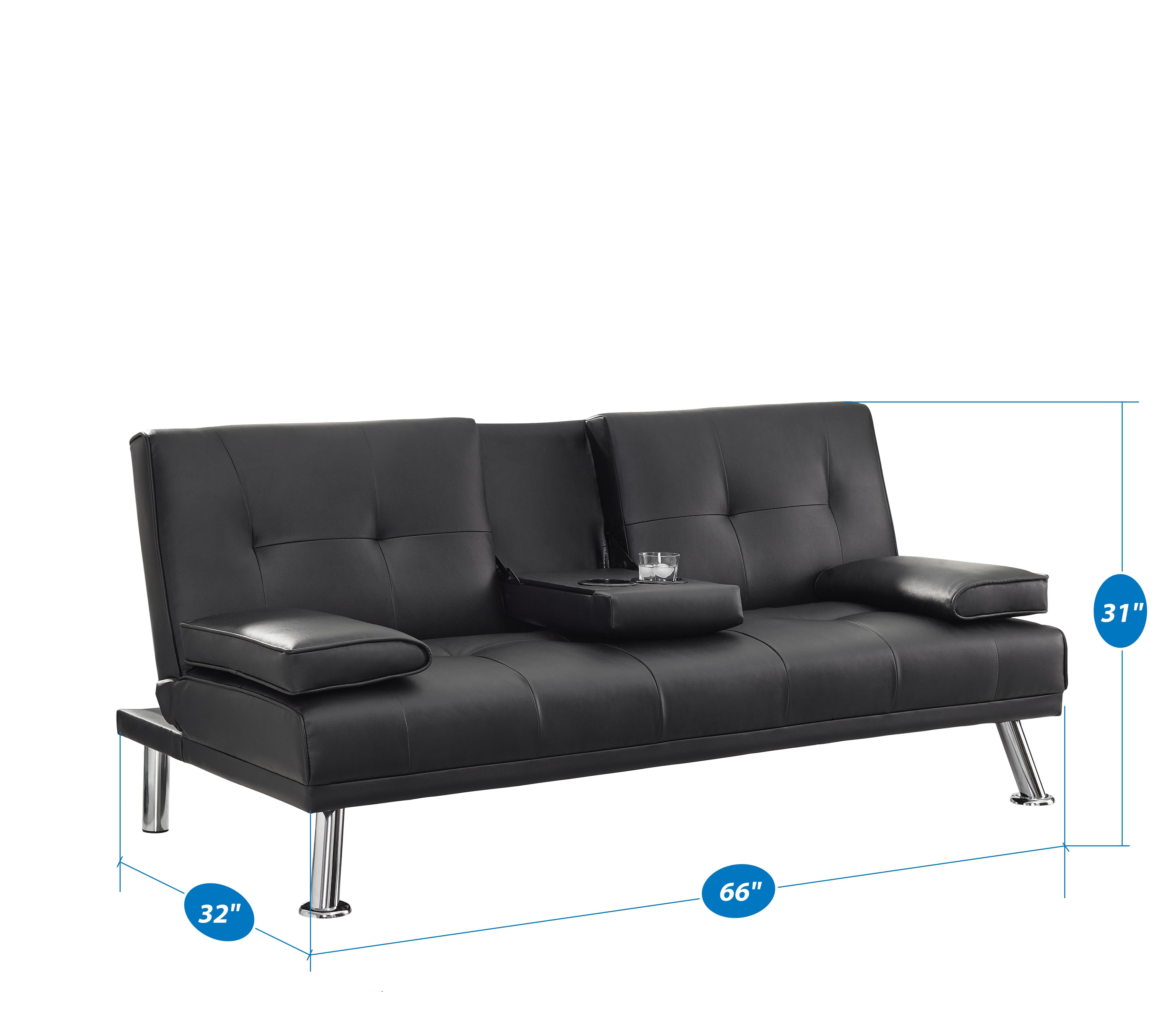 low priced 46a84 30073 Naomi Home Futon Sofa Bed with Armrest, Espresso