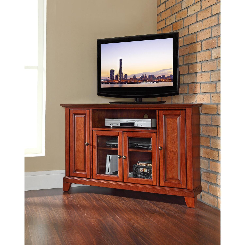 newport 48 corner tv stand ojcommerce. Black Bedroom Furniture Sets. Home Design Ideas