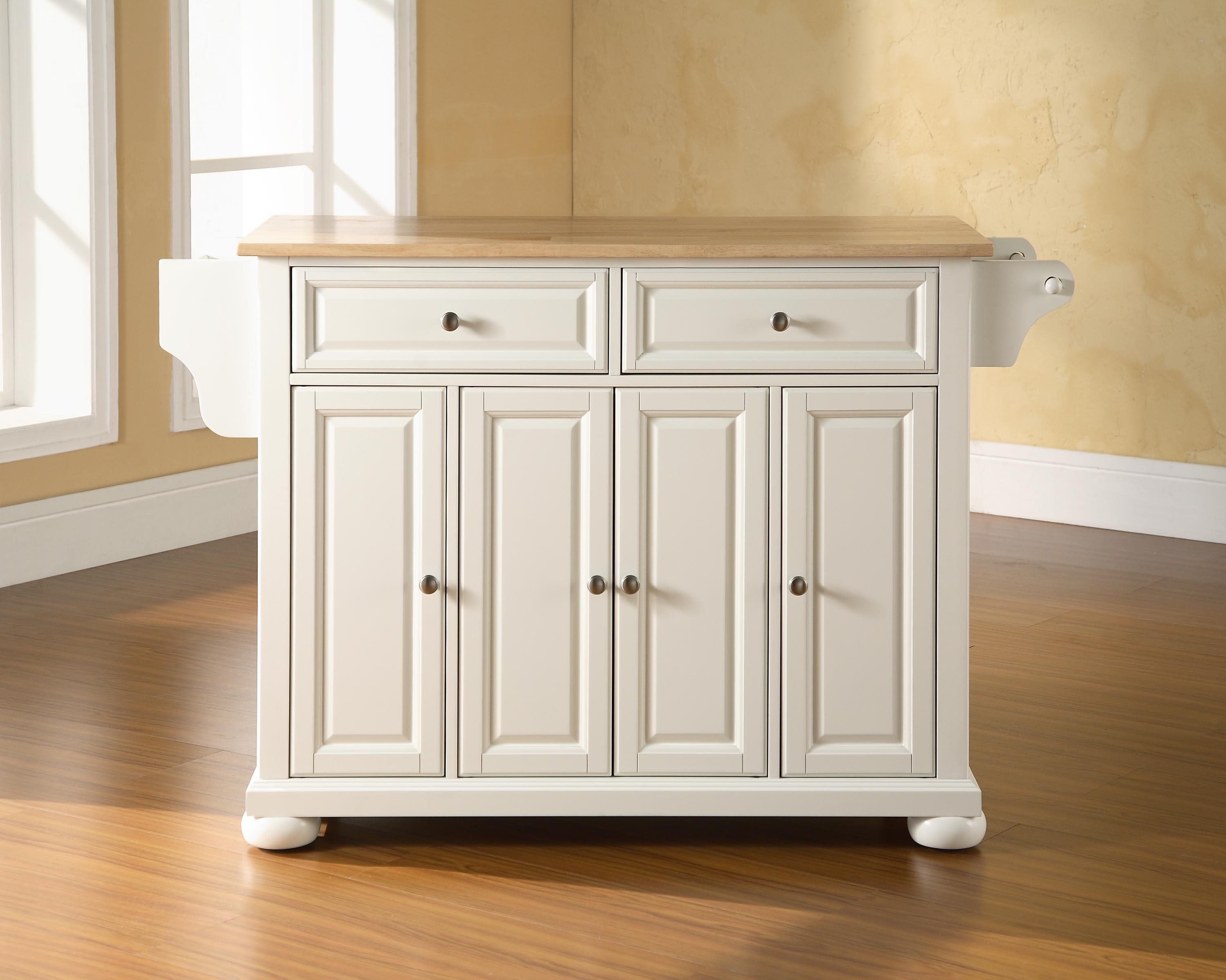 Crosley Alexandria Kitchen Island by OJ Commerce KF30001AWH - $389.00