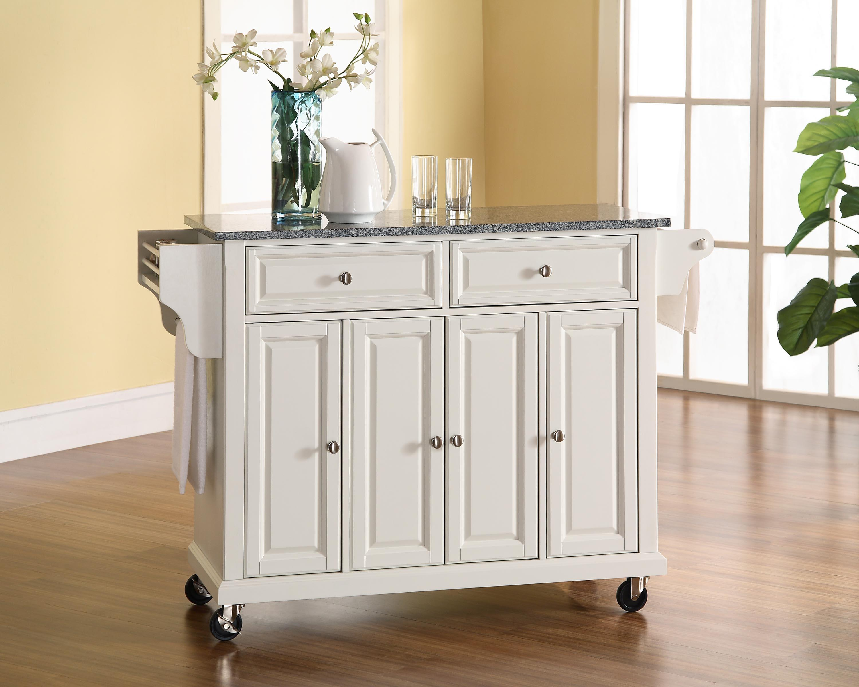 Beau Image Is Loading Crosley Solid Black Granite Top Kitchen Cart Island