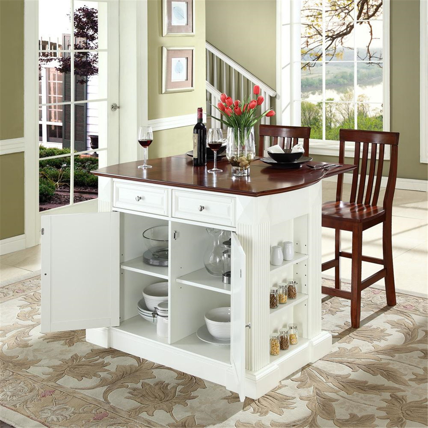 kitchen island with drop leaf breakfast bar crosley drop leaf breakfast bar top kitchen island with 24 27871