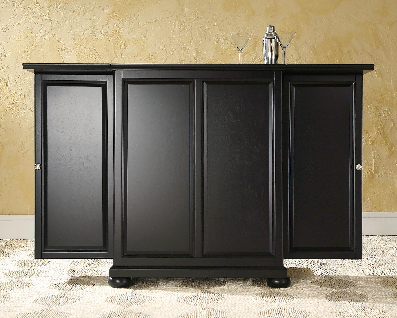 Crosley Alexandria Expandable Bar Cabinet Black at Sears.com