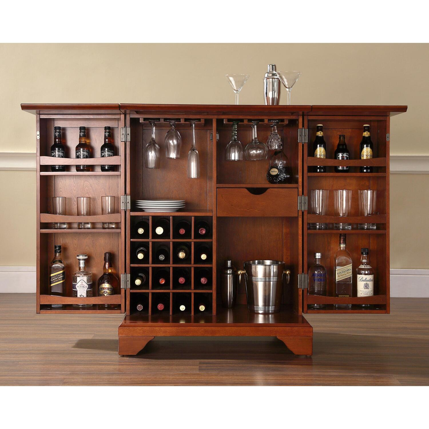 Crosley Lafayette Expandable Bar Cabinet From 410 42 To