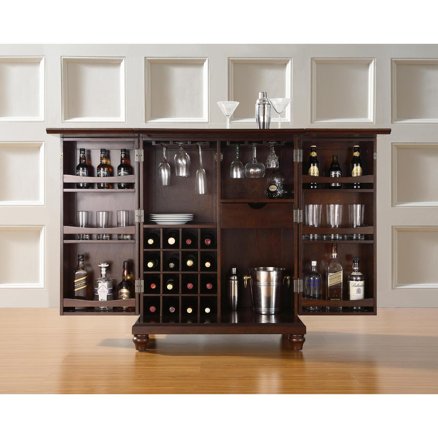 Crosley Cambridge Expandable Bar Cabinet From 450 32 To