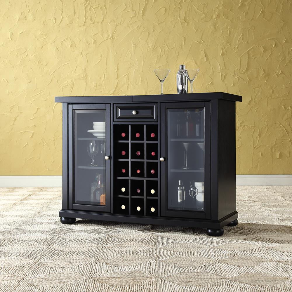 Crosley Alexandria Sliding Top Bar Cabinet Black at Sears.com