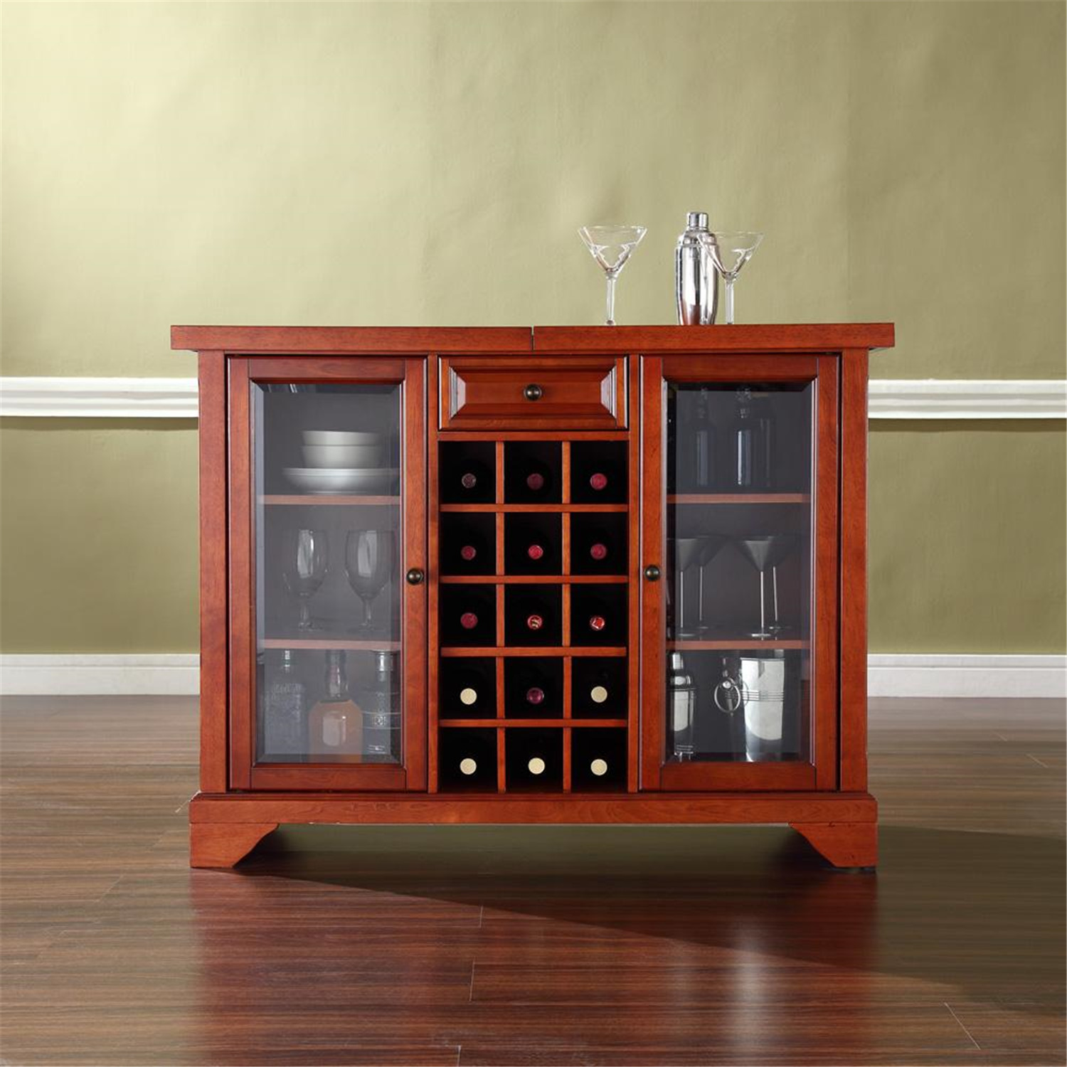 Lafayette Sliding Top Bar Cabinet Ojcommerce