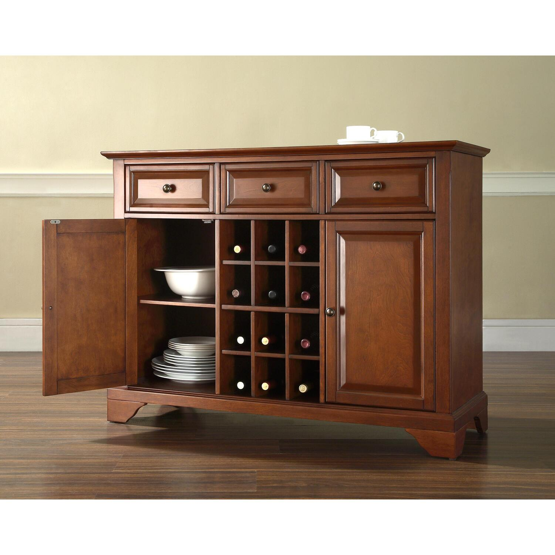 Lafayette Buffet Server Sideboard Cabinet With Wine Storage Ojcommerce