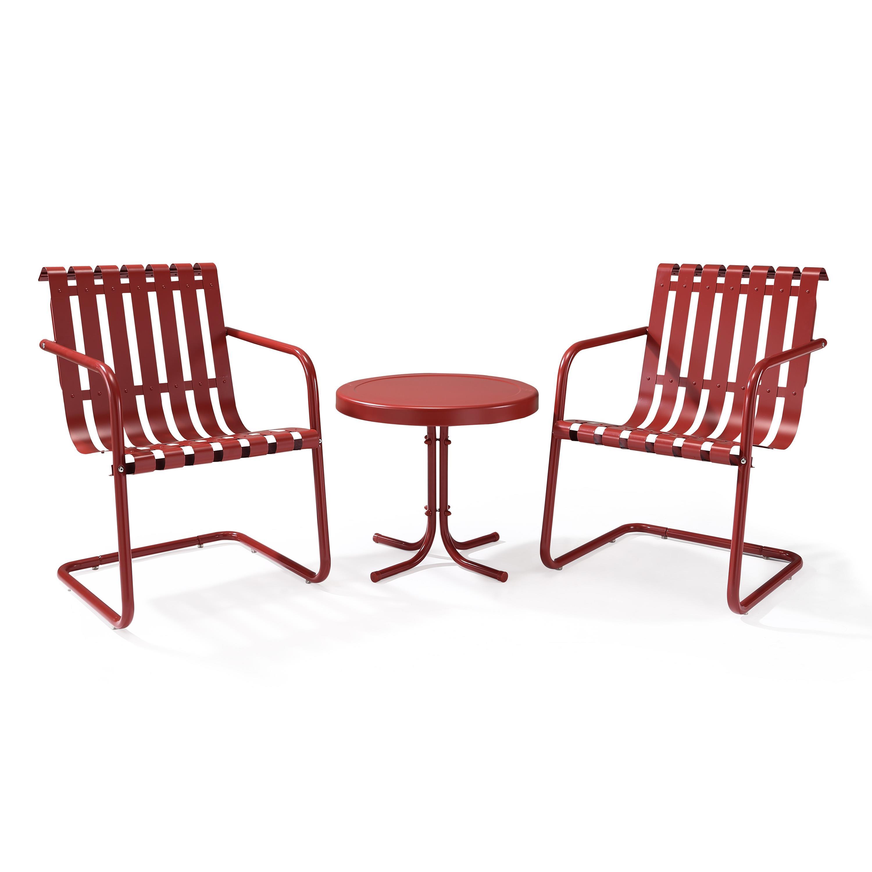 Crosley Gracie 3 Piece Metal Outdoor Conversation Seating Set 2