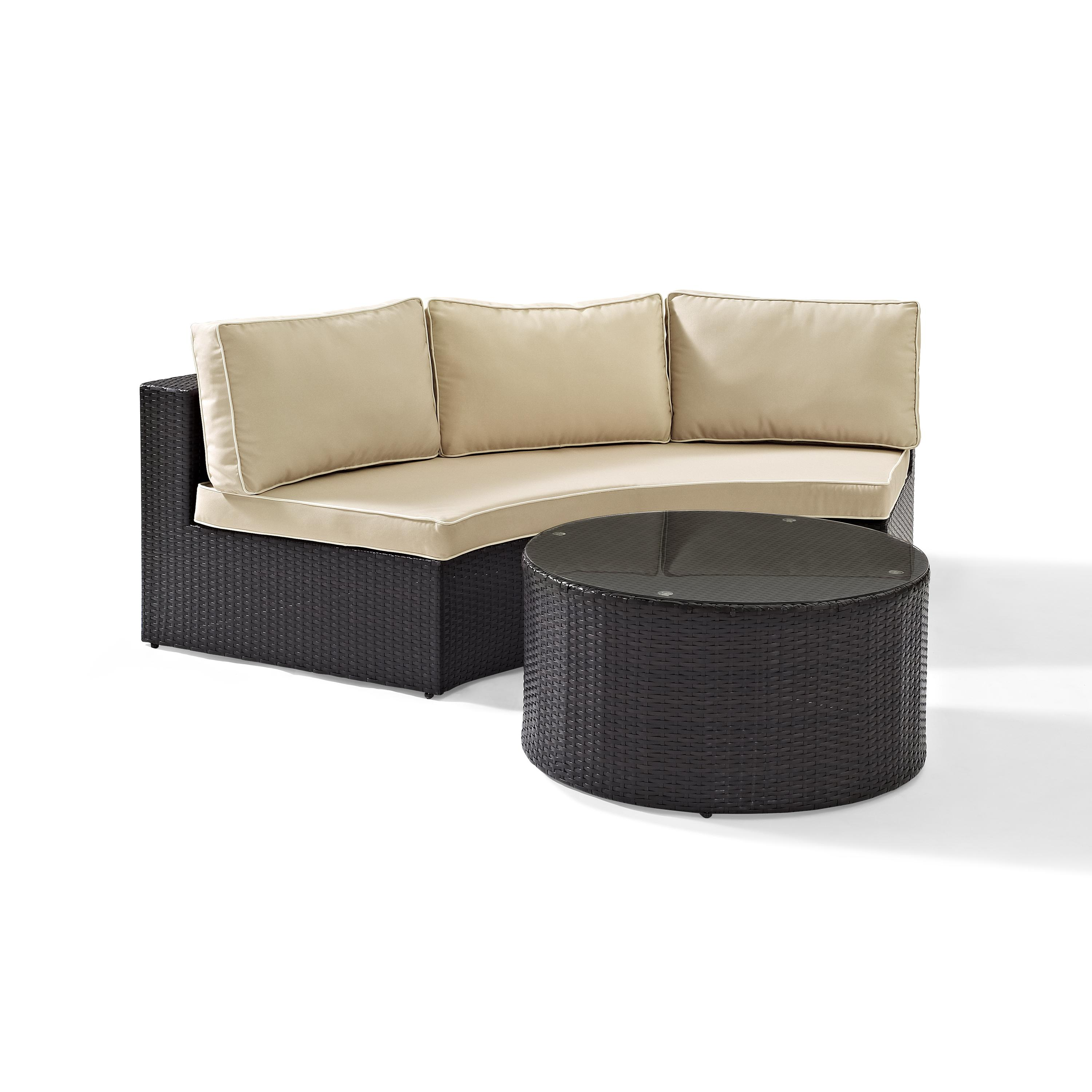 Catalina 2 Piece Outdoor Wicker Seating Set With Sand