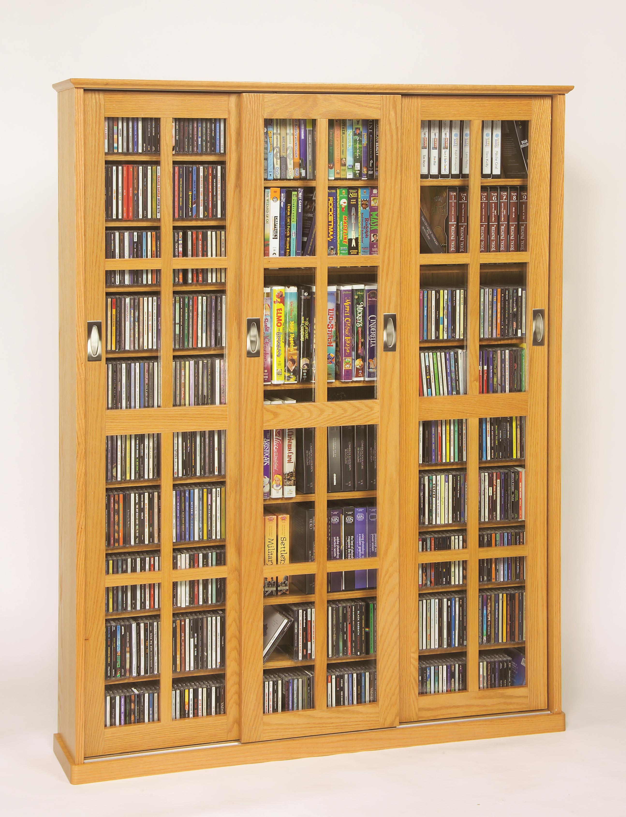 Leslie Dame Sliding Door Inlaid Glass Mission Style Multimedia Cabinet (MS-1050 Series) [Item # MS-1050]
