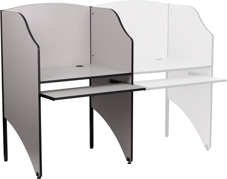Starter Study Carrel In Finish [Item # MT-M6201-GY-GG]