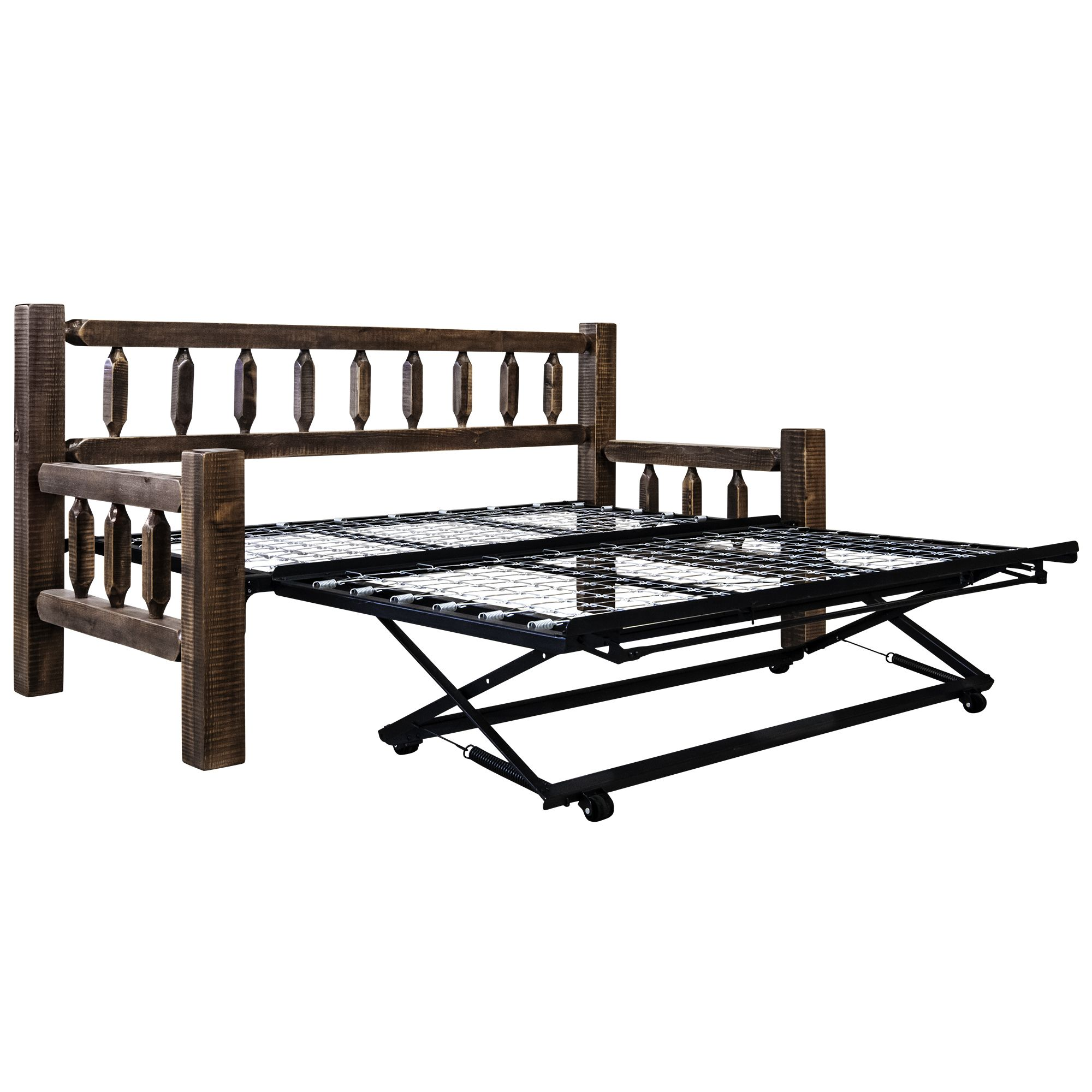 - Montana Woodworks Homestead Collection Day Bed W/ Pop Up Trundle
