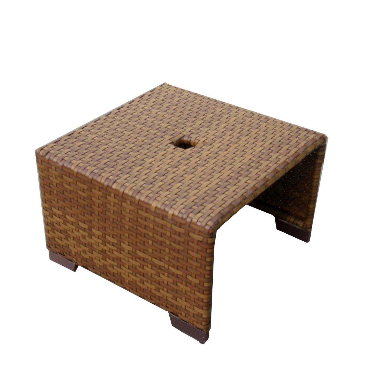 Panama Jack Panama Jack St Barths Coffee Table with umbrella hole by OJ Commerce PJO 3001 BRN CT - Dining Room Furniture Ct