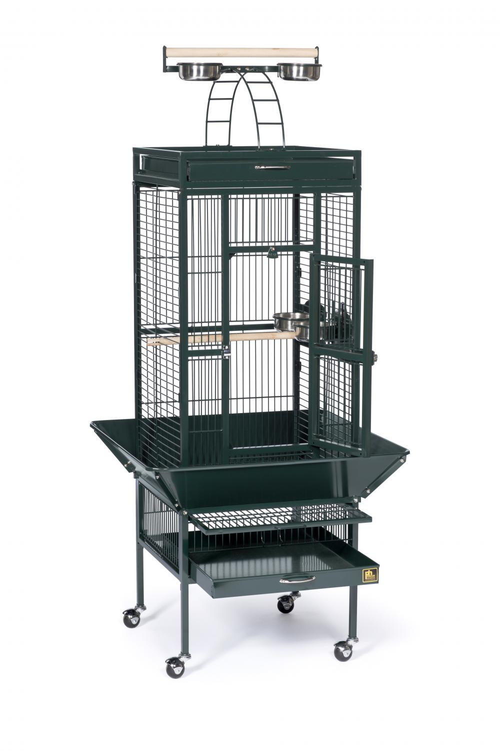 2112328b87bd Prevue Pet Products Wrought Iron Select Cage - Black Hammertone