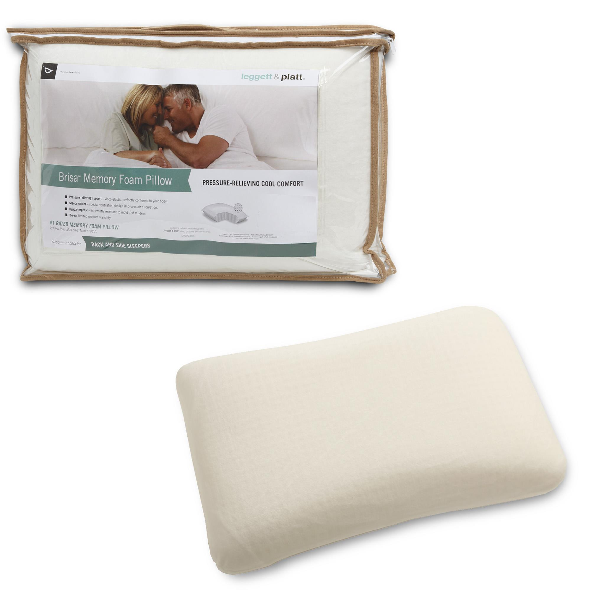Fashion Bed Group Brisa Memory Foam Pillow with Portable Zippered Carrying  Case - [QG0077]