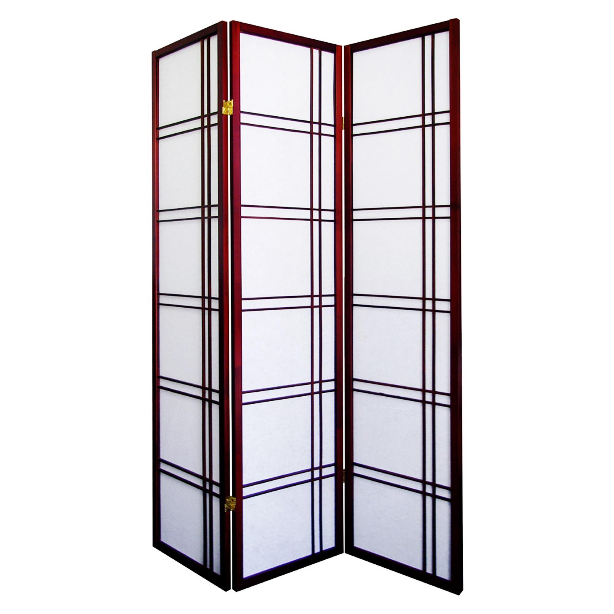 Ore international girard 3 panel room divider by oj commerce r542na - 3 panel screen room divider ...