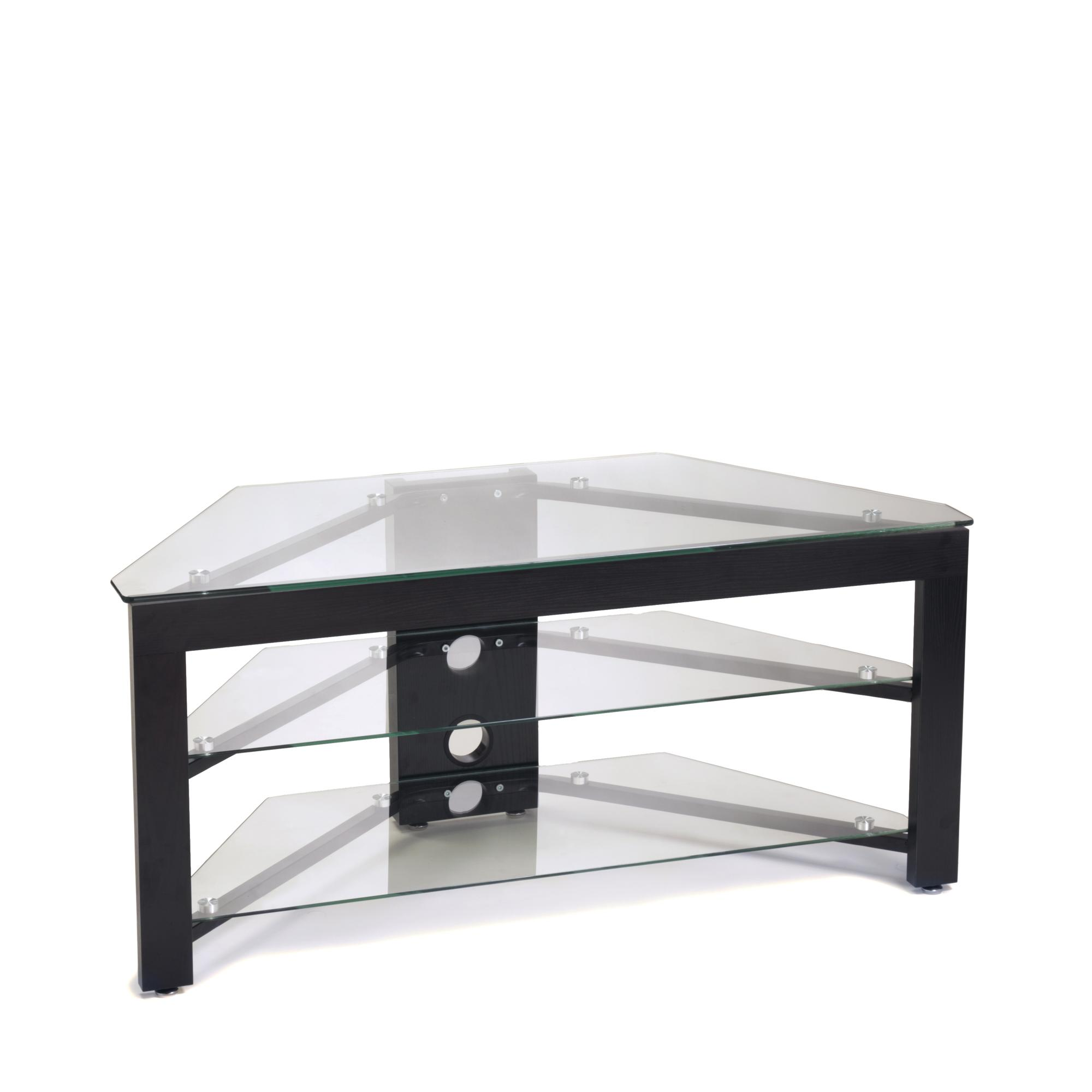 classic glass tv stand ojcommerce. Black Bedroom Furniture Sets. Home Design Ideas
