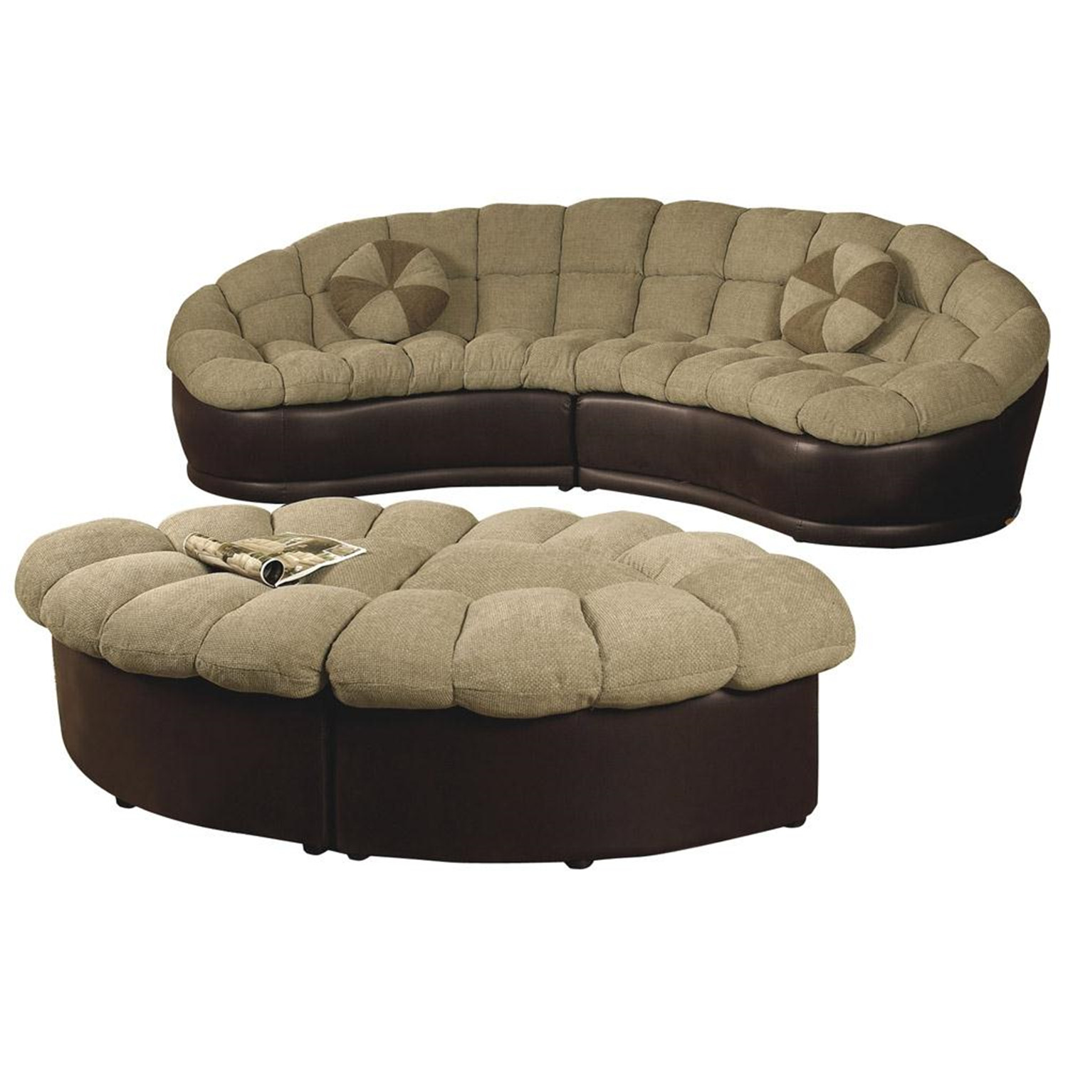Love Seat And Ottoman Set OJCommerce
