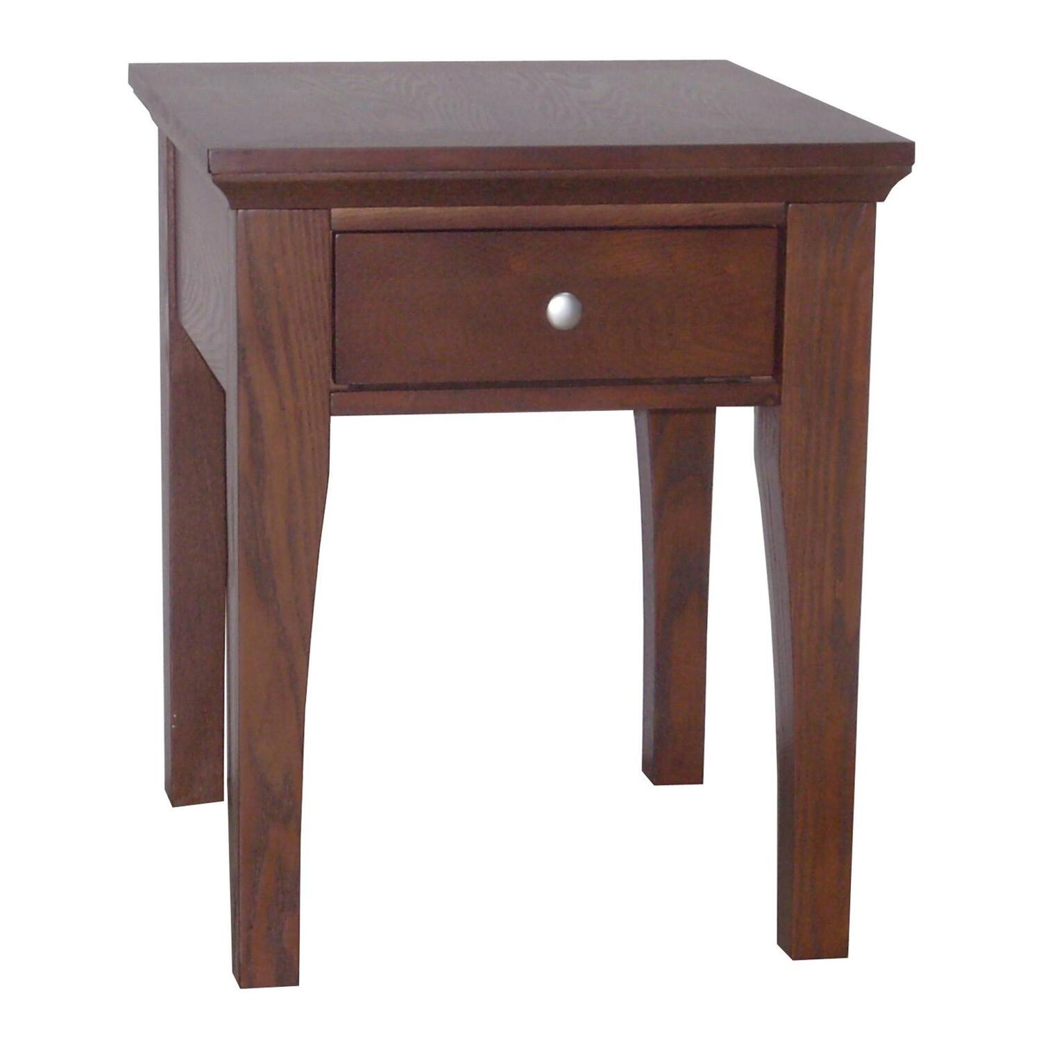 fraser end table 1 drawer ojcommerce ForEnd Tables With Drawers