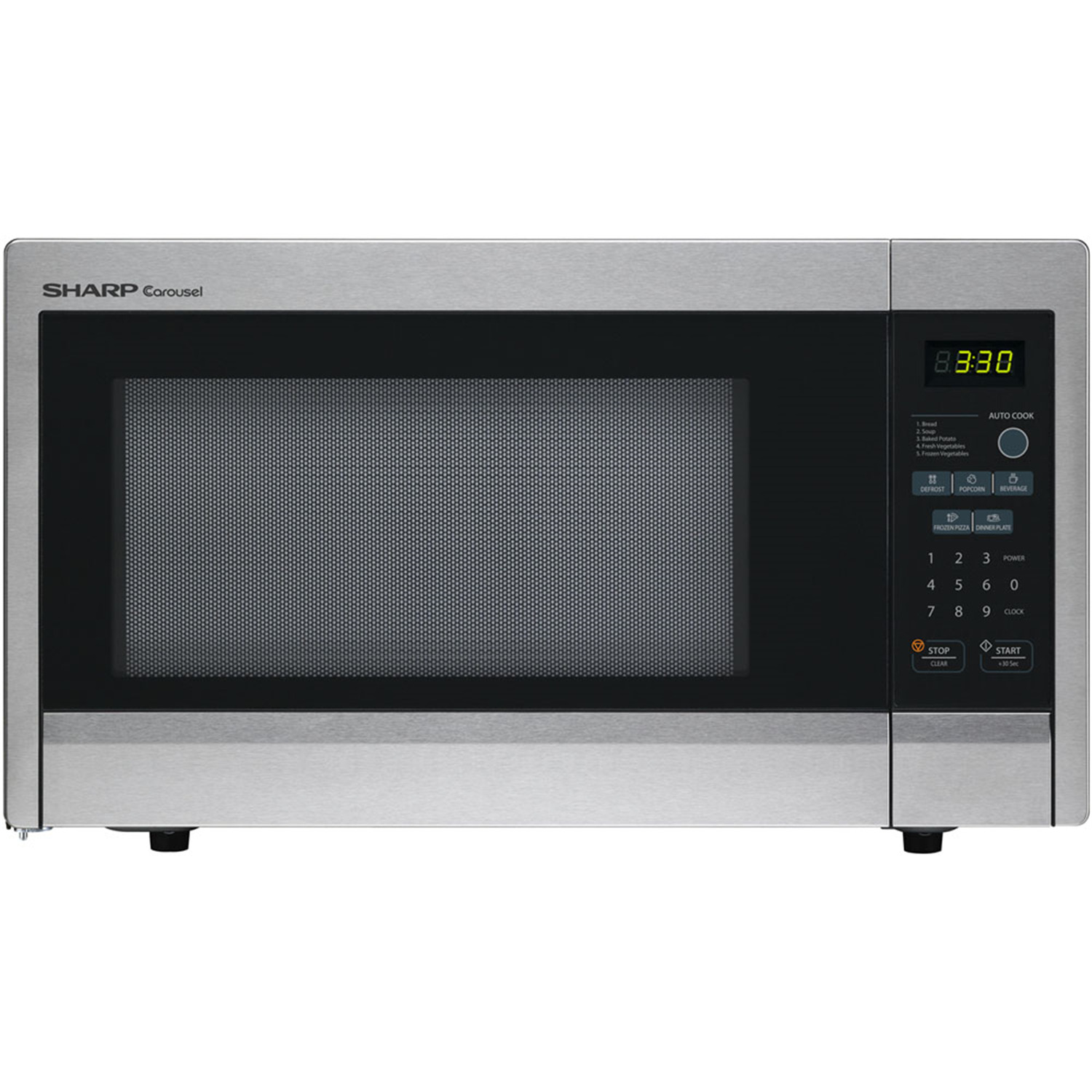 Carousel 1.1 Cu. Ft. 1000W Countertop Microwave Oven