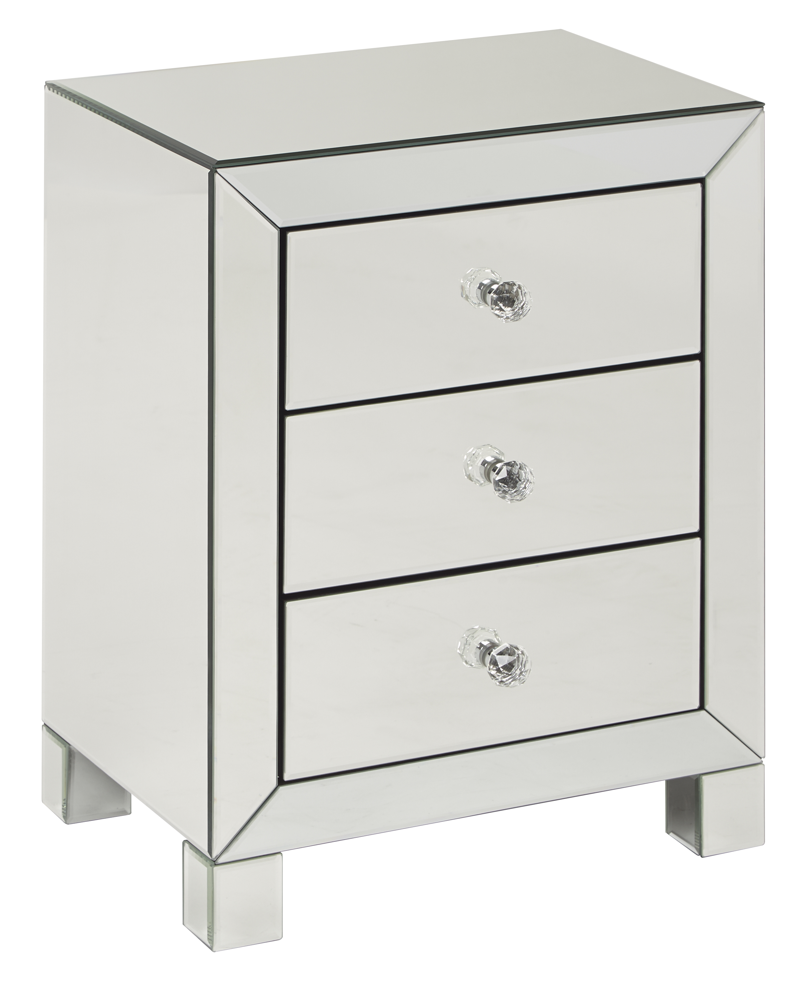 Reflections 3 Drawer Accent Table - [REF173-SLV]