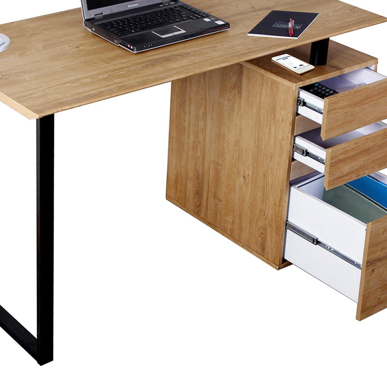 Techni mobili computer desk with storage and file cabinet for Mobili computer