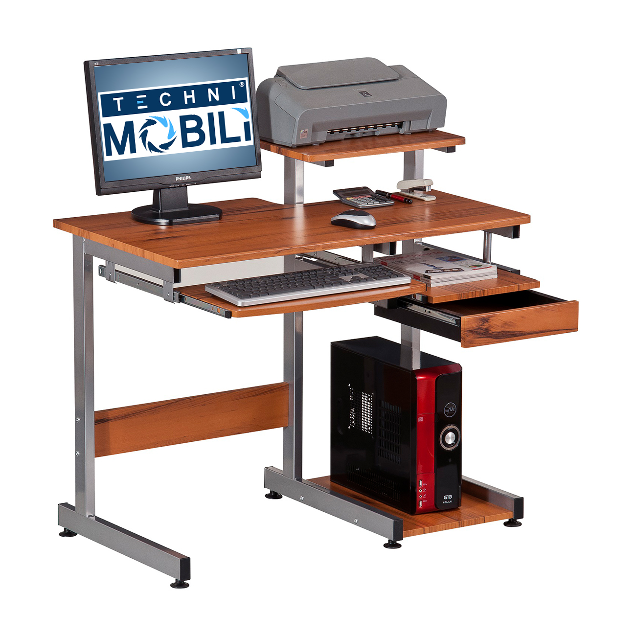 Techni Mobili Complete Computer Workstation Desk Ojcommerce