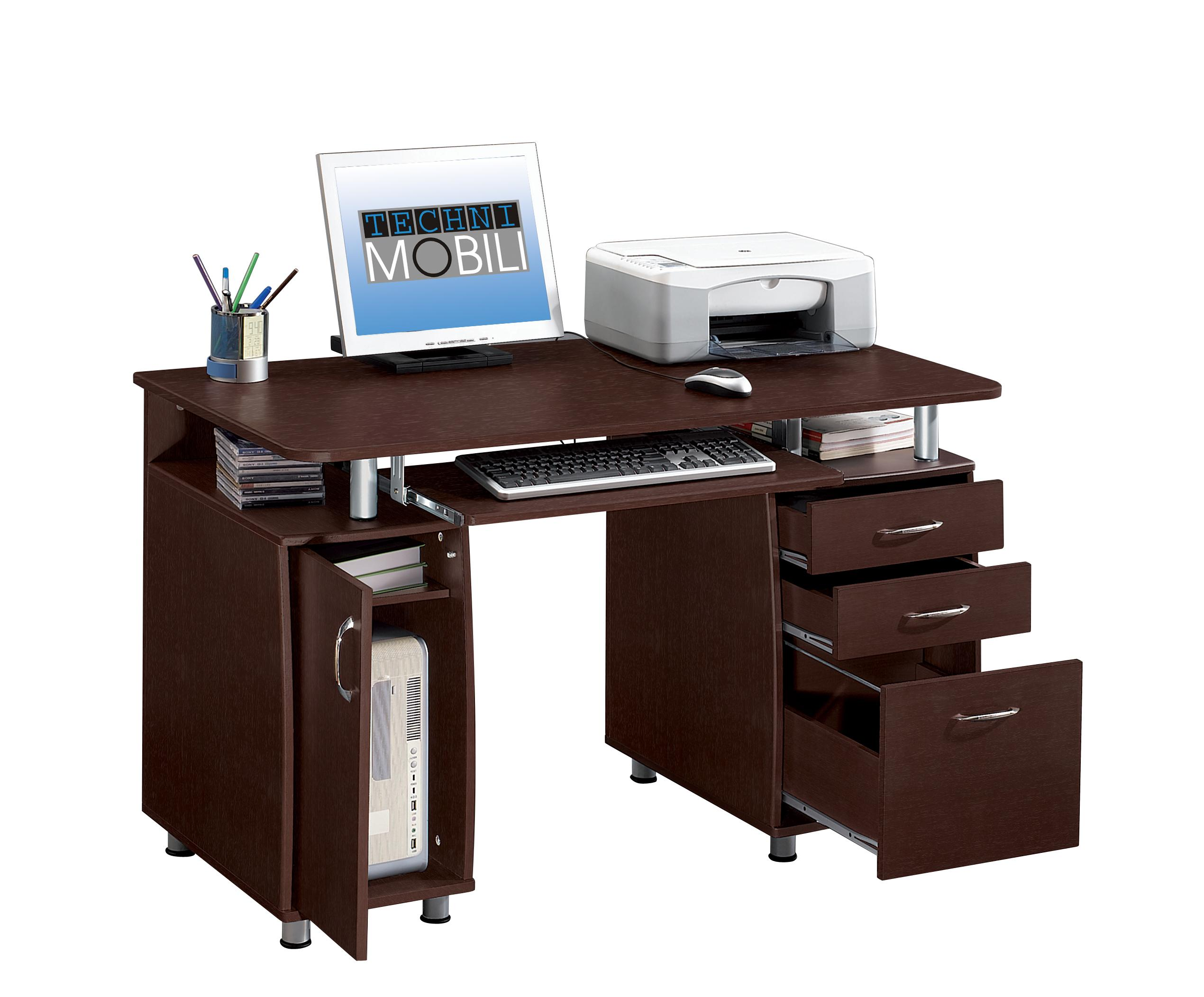 Double Pedestal Multifunction Computer Workstation