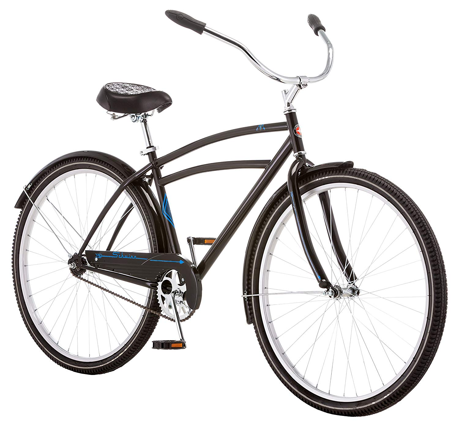 Schwinn Gammon Men's 18 Cruiser Bicycle, 18-Inch/Medium, Bla