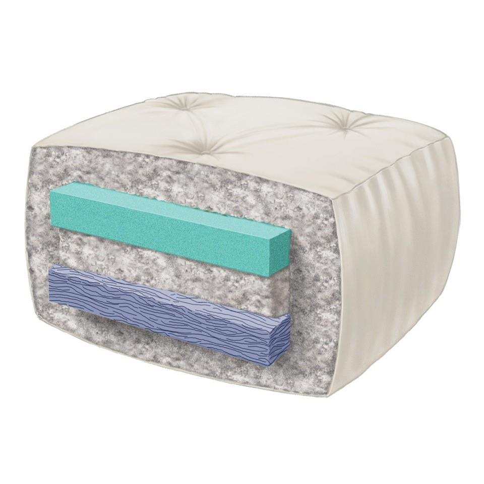 Wolf Serta Double Sided Foam And Cotton Futon Mattress Queen Marmmor Gray