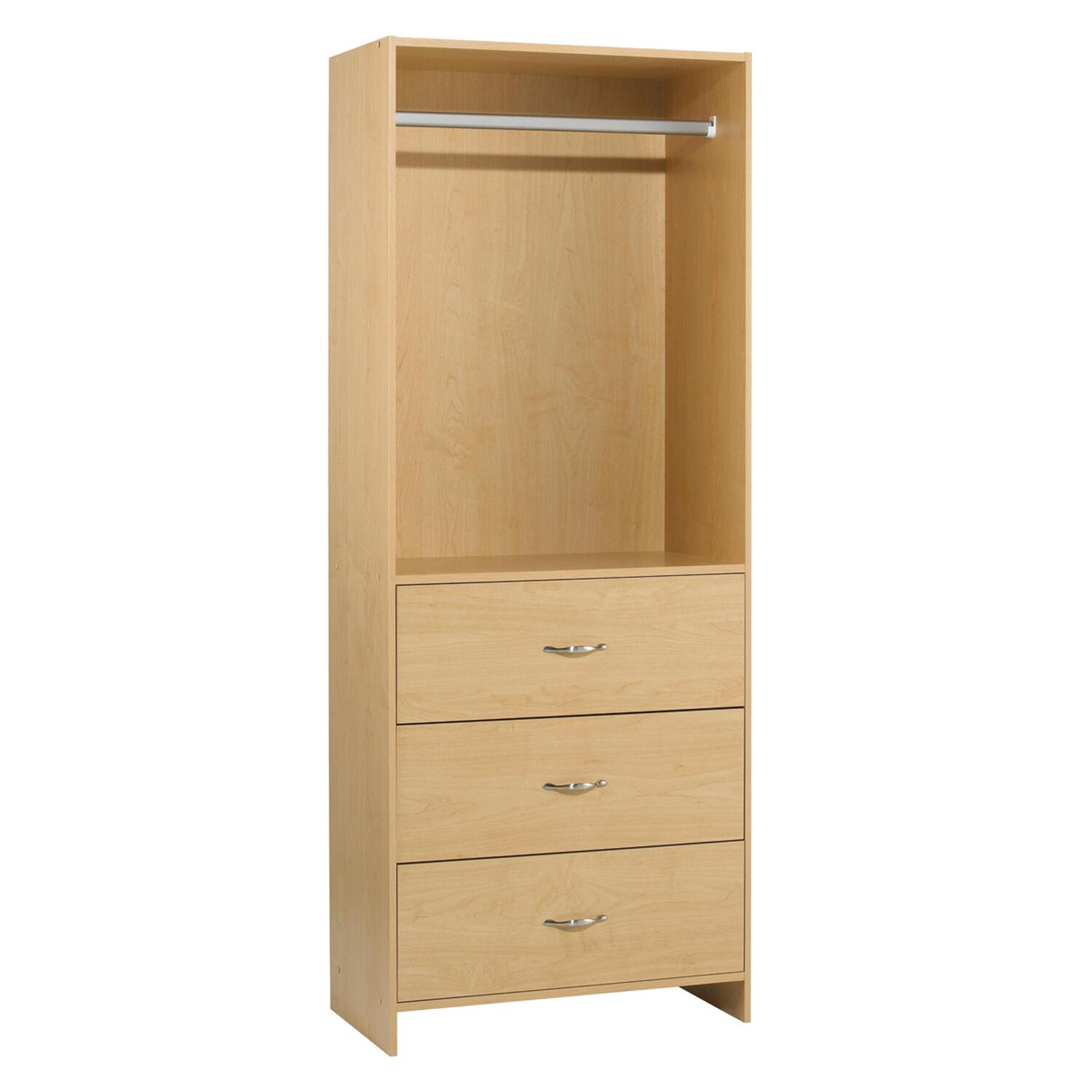 to drawer drawers regard measurements fronts with x furniture tower storage closet white shaker style