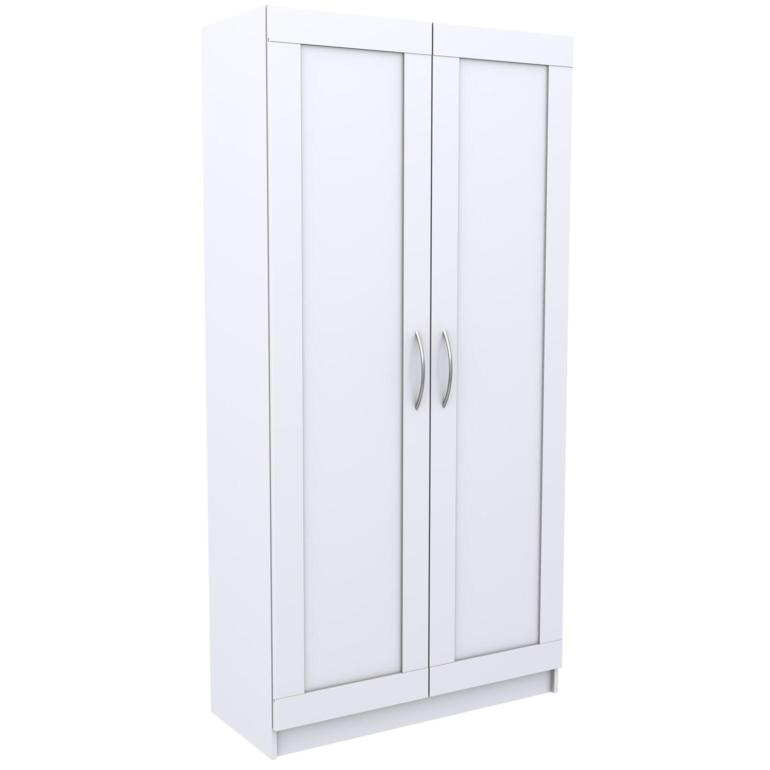 5 Shelf Wide Framed Door Storage Cabinet   [ST105701A]