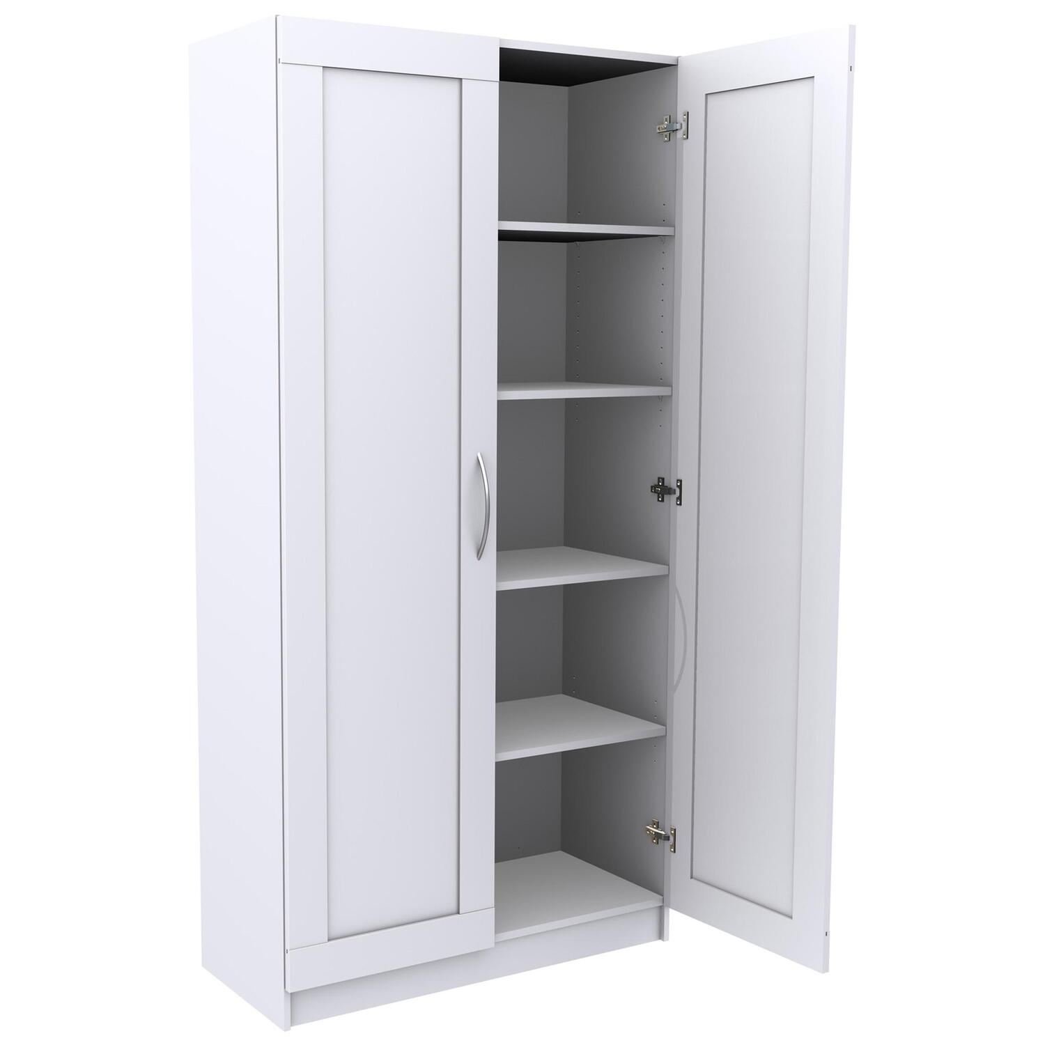Delicieux 5 Shelf Wide Framed Door Storage Cabinet