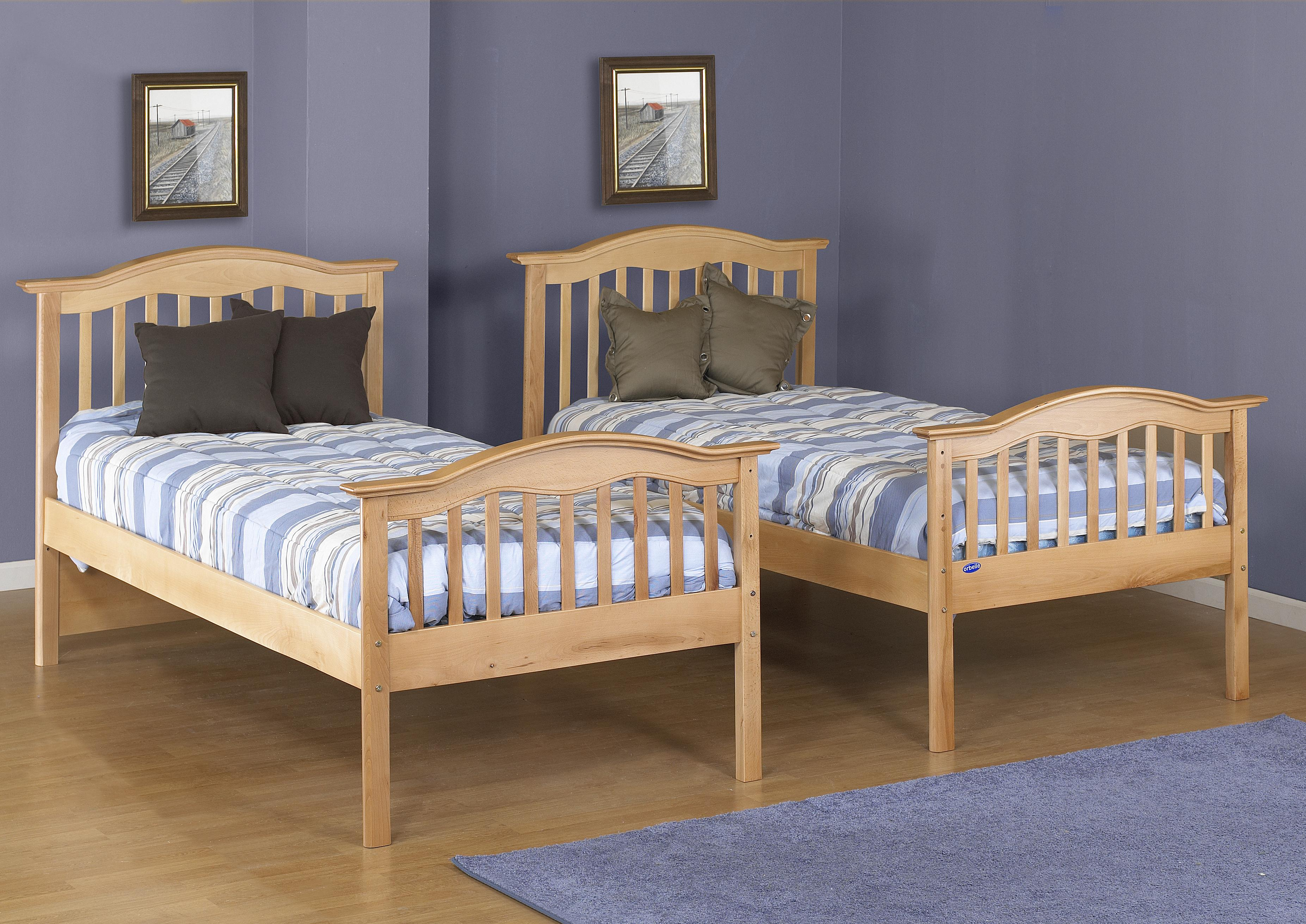 Mission Style Solid Wood Twin Bed Tb480 N