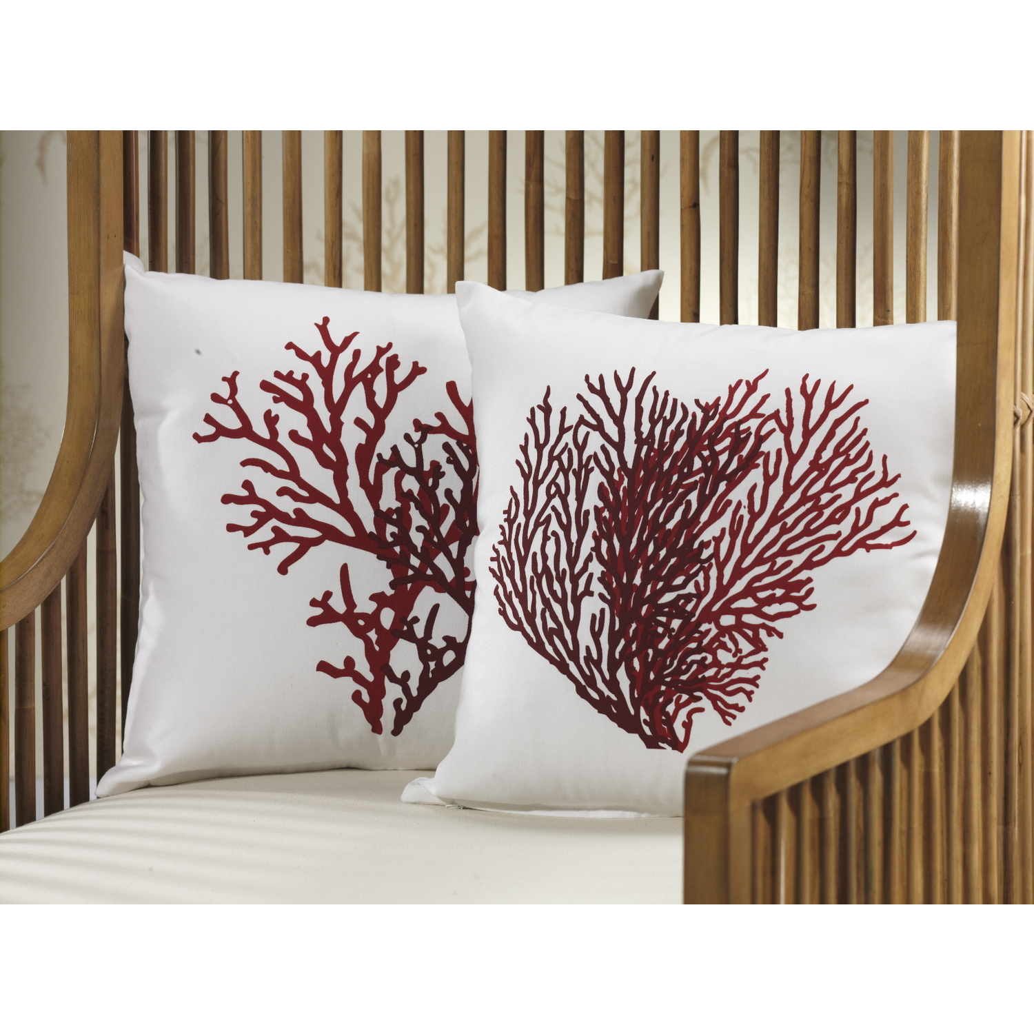 Two Assorted Coral Design Throw Pillows 38 99 Ojcommerce