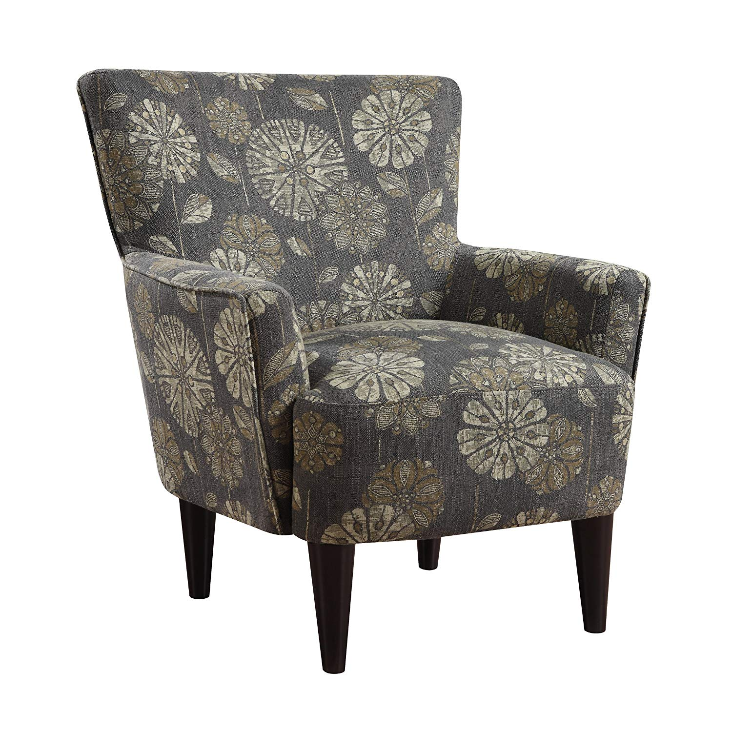 Emerald Home Flower Power Cascade Teal Accent Chair With