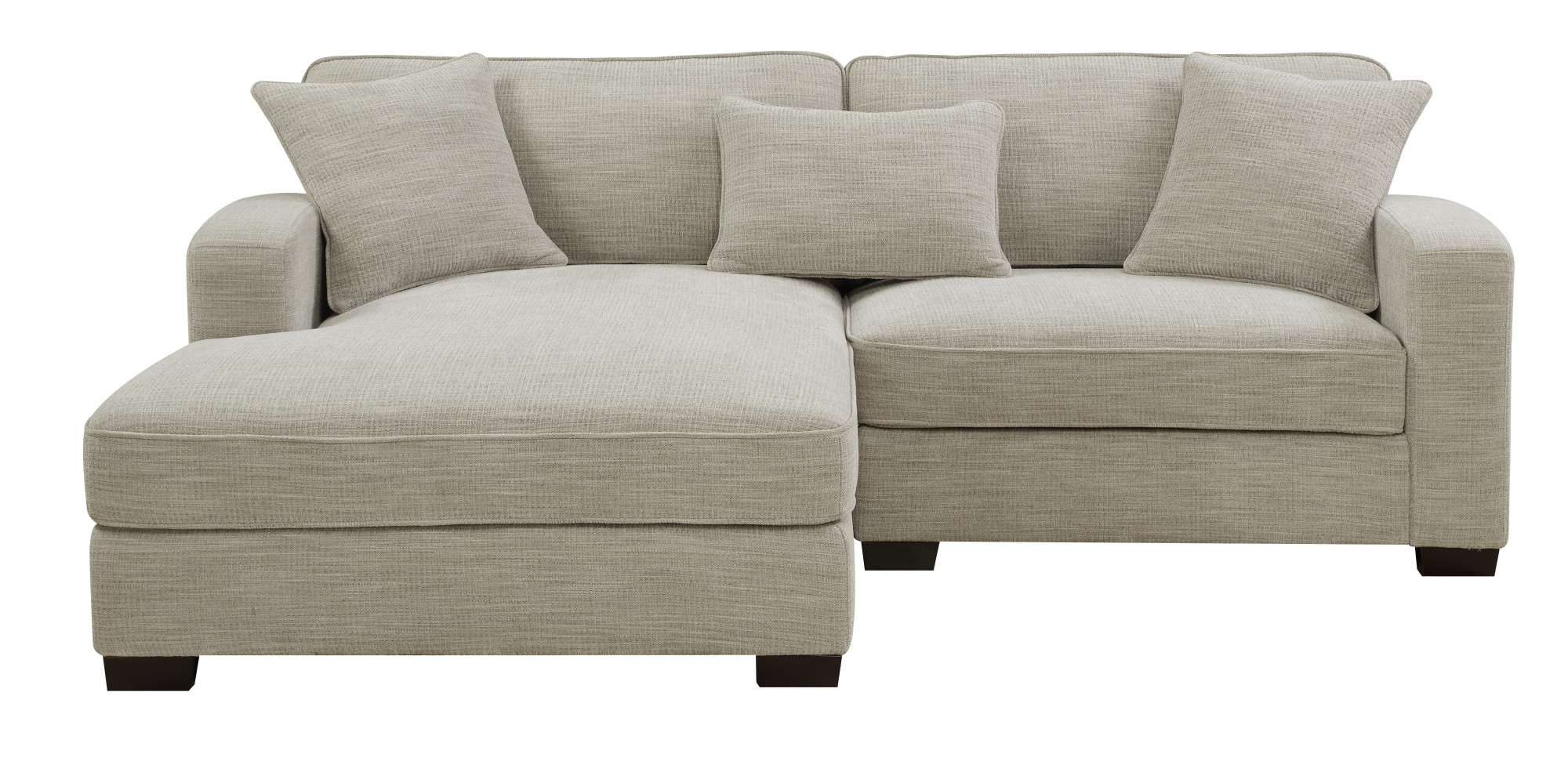 Awesome Emerald Home Repose Silver Chofa Sectional With Pillows Ultra Soft Fabric Track Arms And Block Legs Standard 1 Contemporary L Shaped L Shaped Frankydiablos Diy Chair Ideas Frankydiabloscom