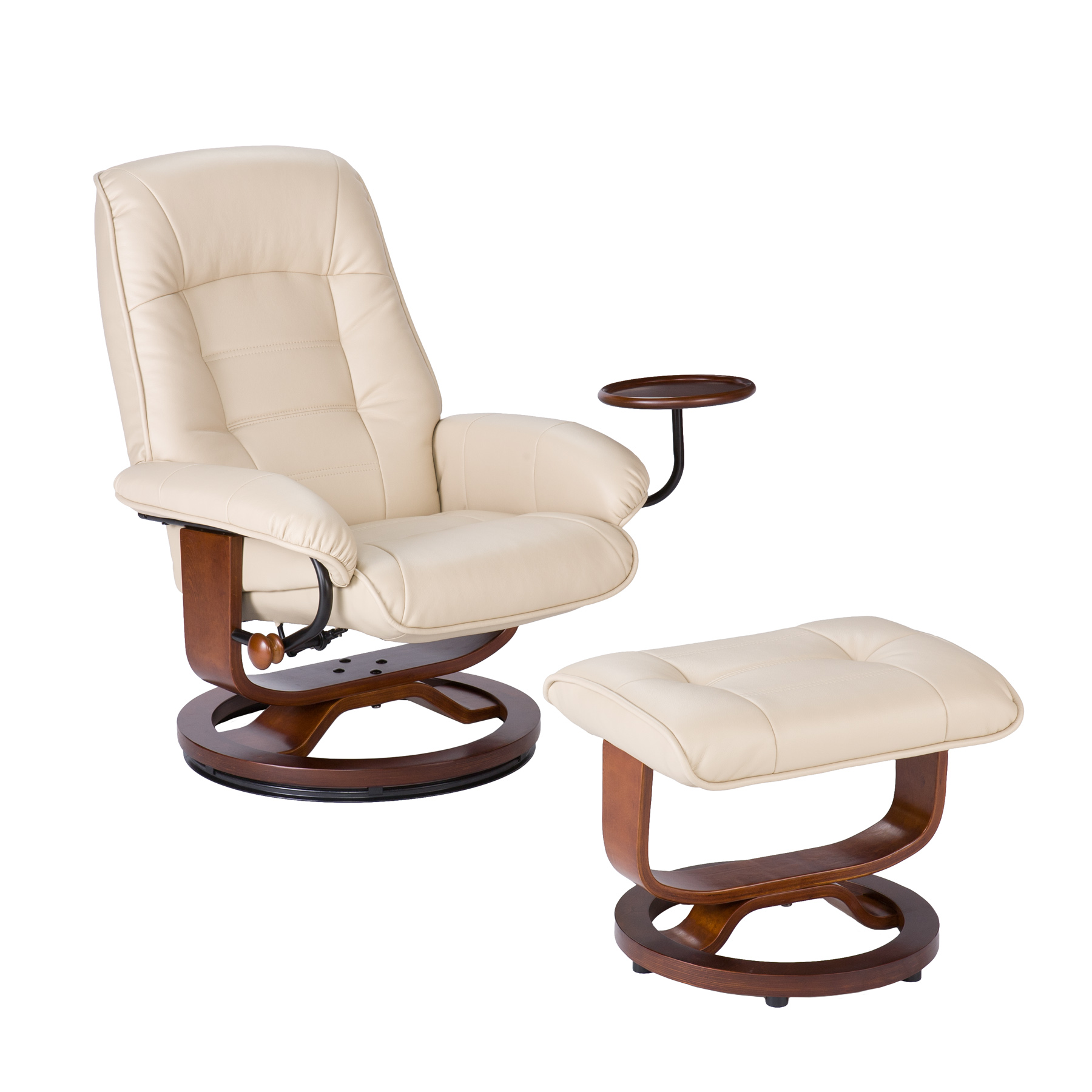 Southern Enterprises Up1303rc Leather Recliner And Ottoman