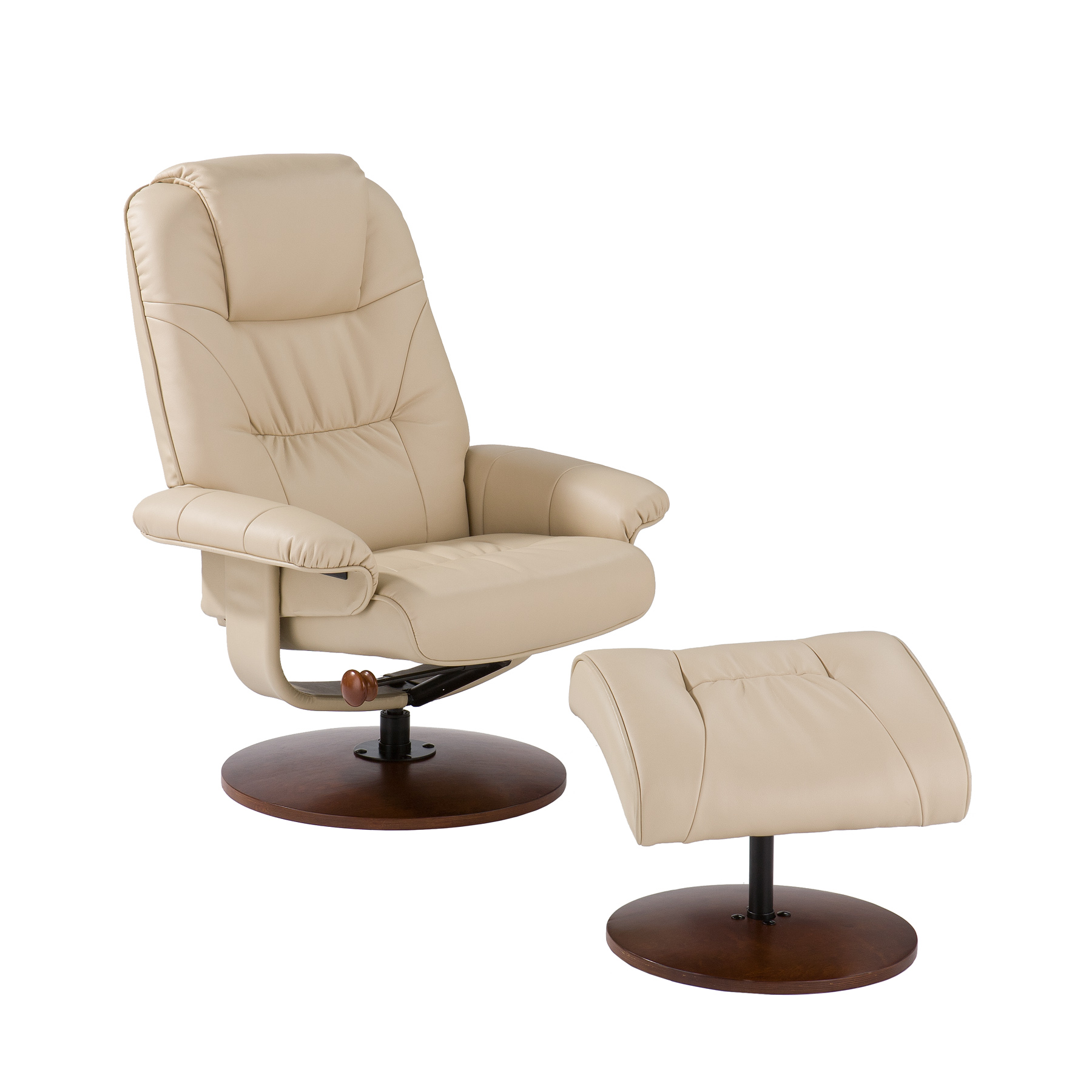 Southern enterprises up4932rc leather recliner and ottoman set