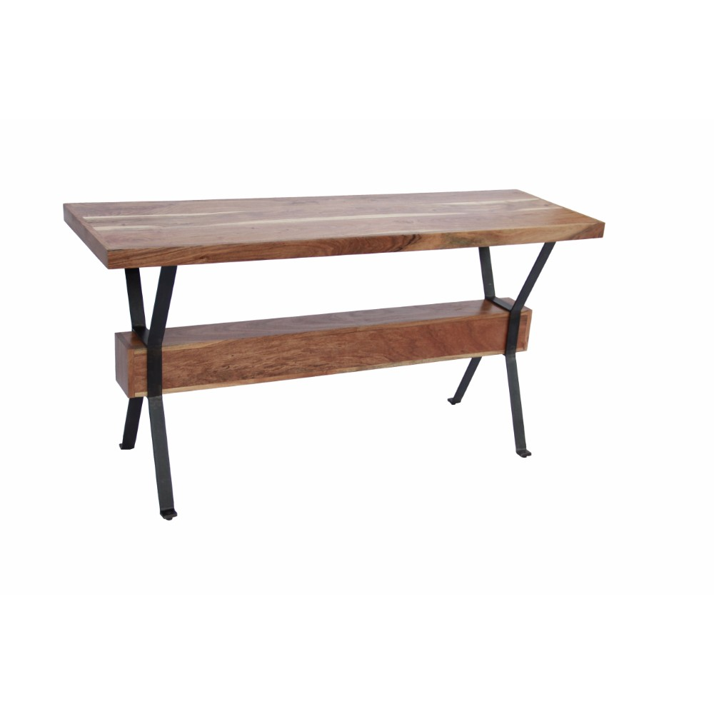 Awesome Benzara The Urban Port Wooden Top Console Sofa Entry Table Brown Black Ibusinesslaw Wood Chair Design Ideas Ibusinesslaworg