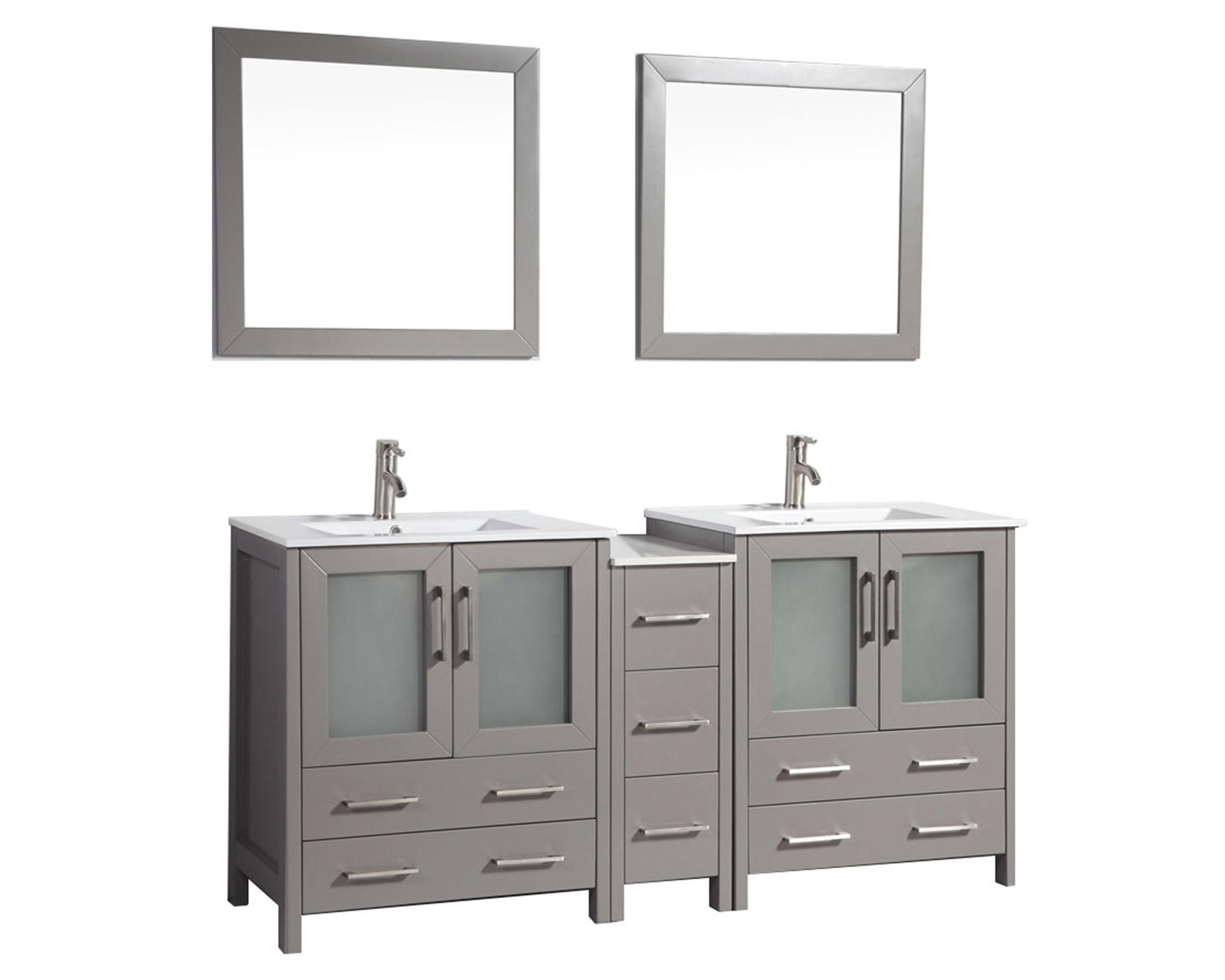72 Inch Double Sink Bathroom Vanity Top.Vanity Art 72 Inch Double Sink Bathroom Vanity Set With Ceramic Vanity Top