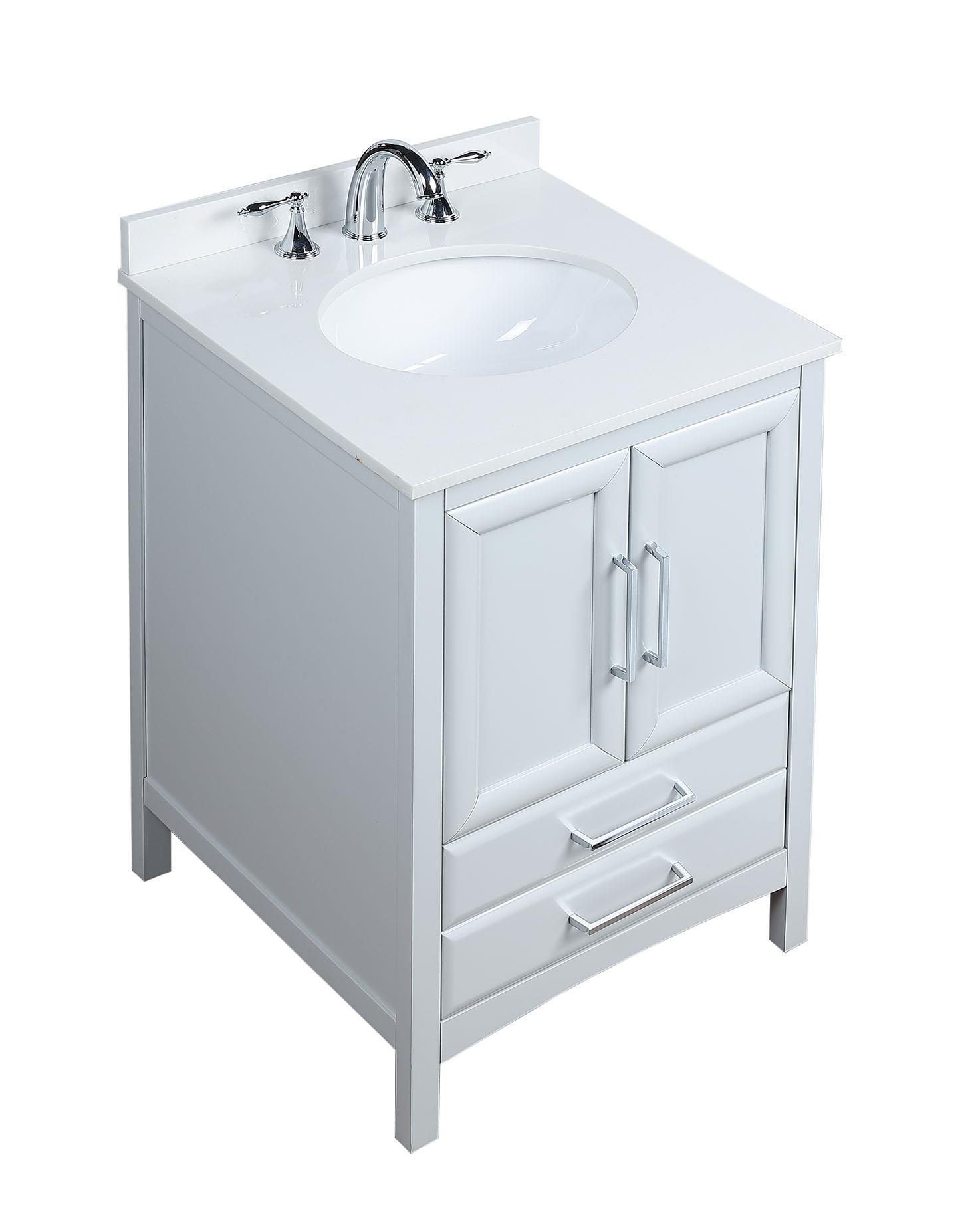 24 Inch Single Sink Bathroom Vanity Set