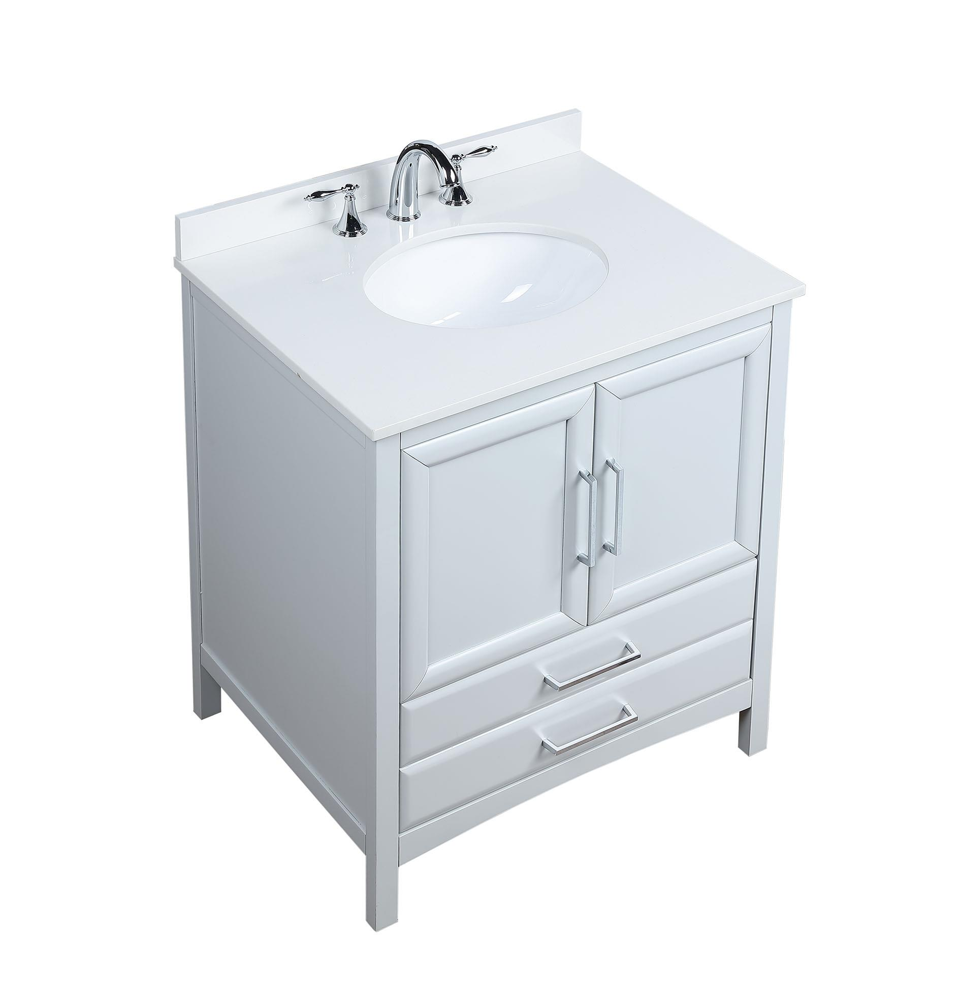 Vanity Art 30 Inch Single Sink Bathroom Vanity Set With Cultured