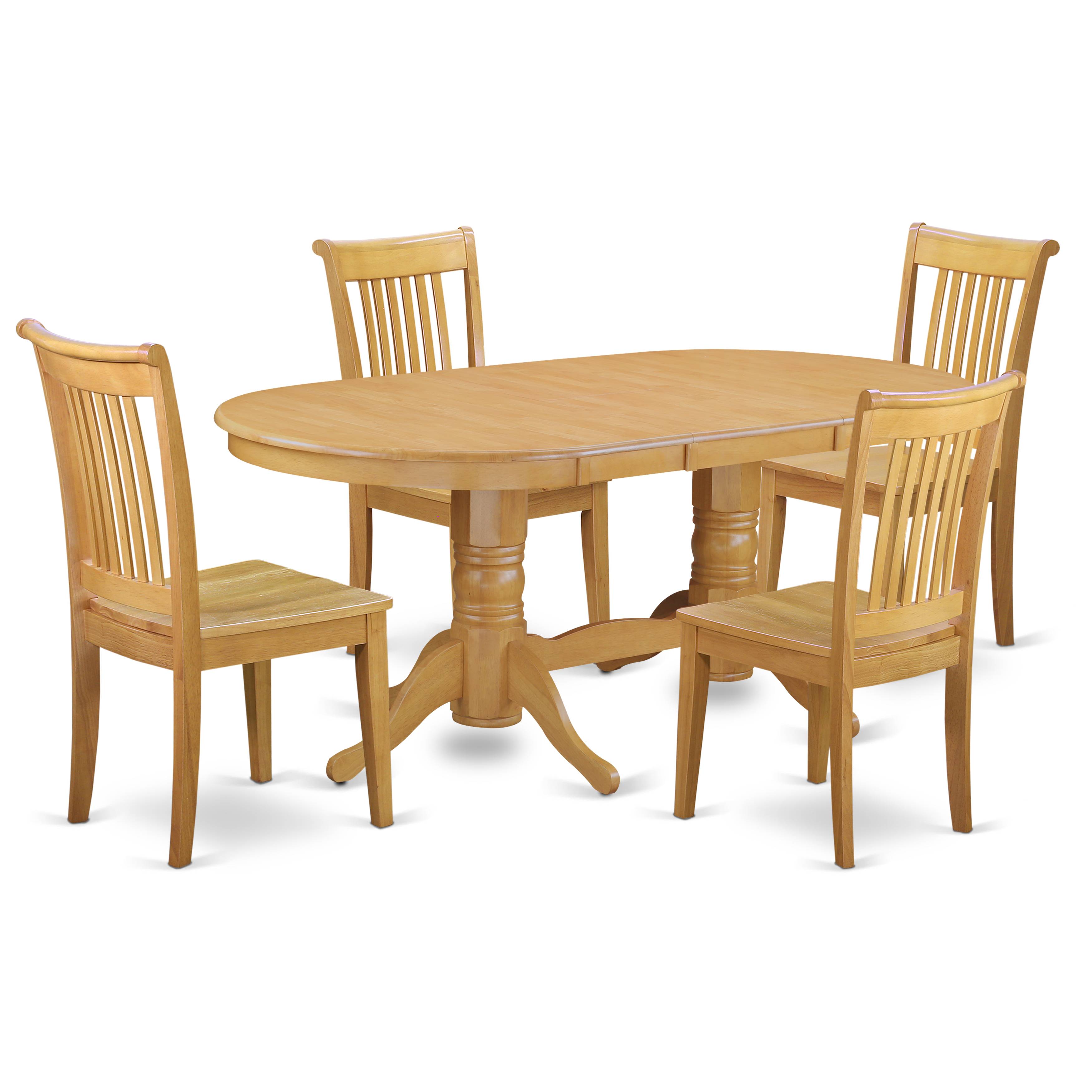 Dollhouse Miniature Oval Oak Dining Room Table