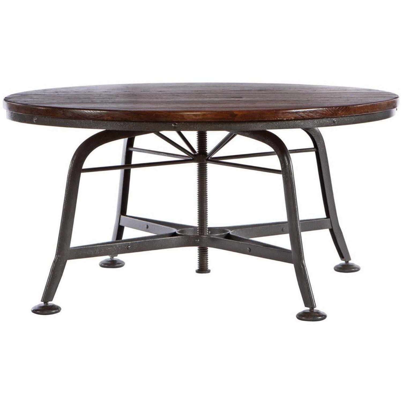 Vintage Coffee Table (Metal Base)