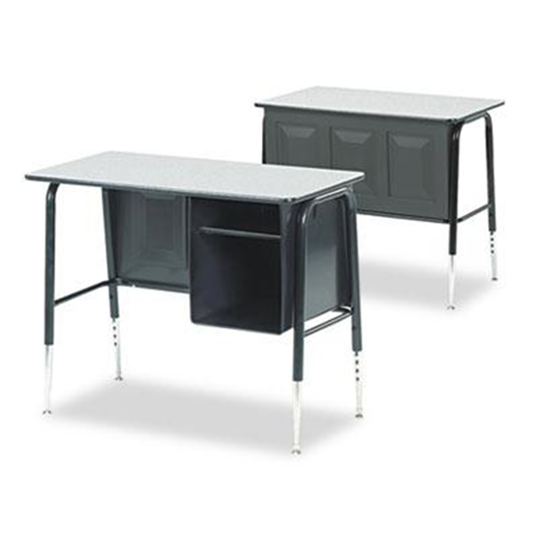 Virco Jr. Executive Desk Gray Nebula