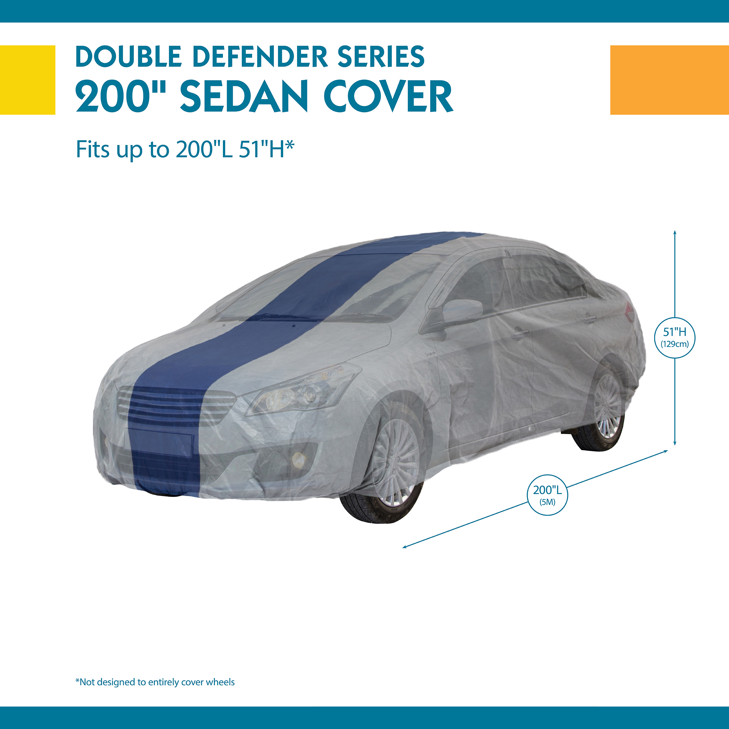Duck Covers Defender Car Cover for Sedans up to 16 8