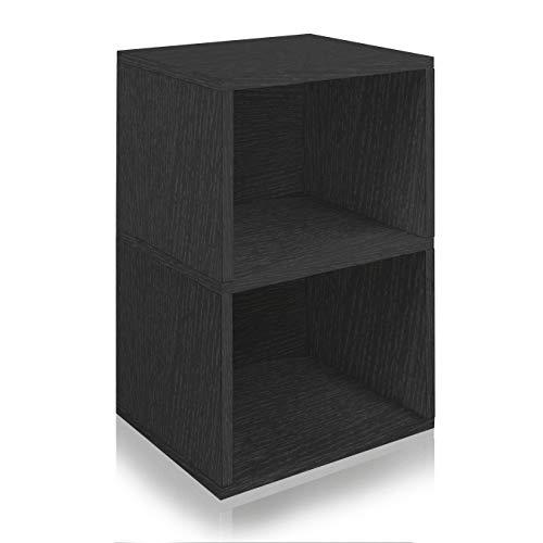 Way Basics Eco Friendly Under Desk Shelf Bookcase Black