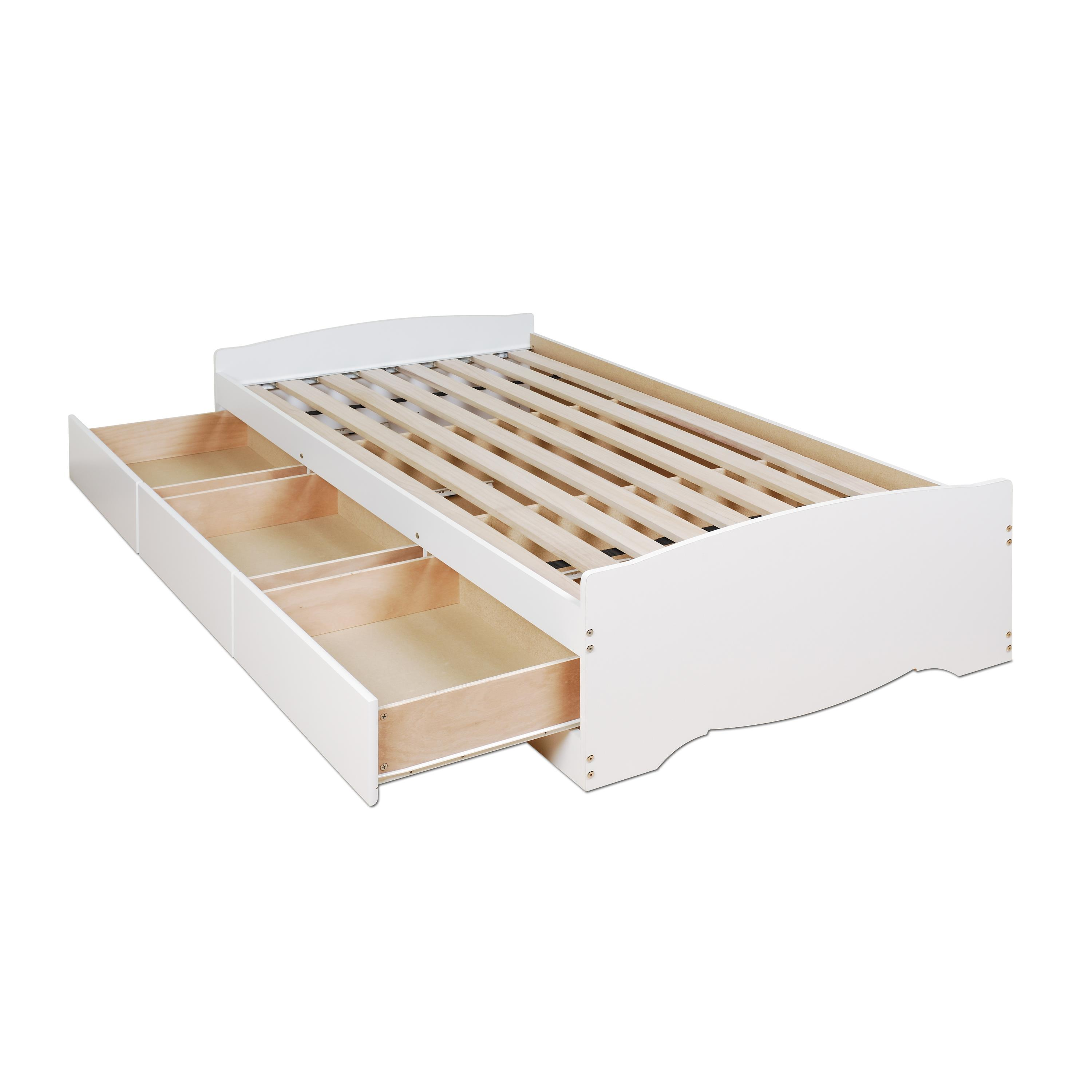 Twin platform bed with drawers - Twin 3 Drawer Platform Storage Bed